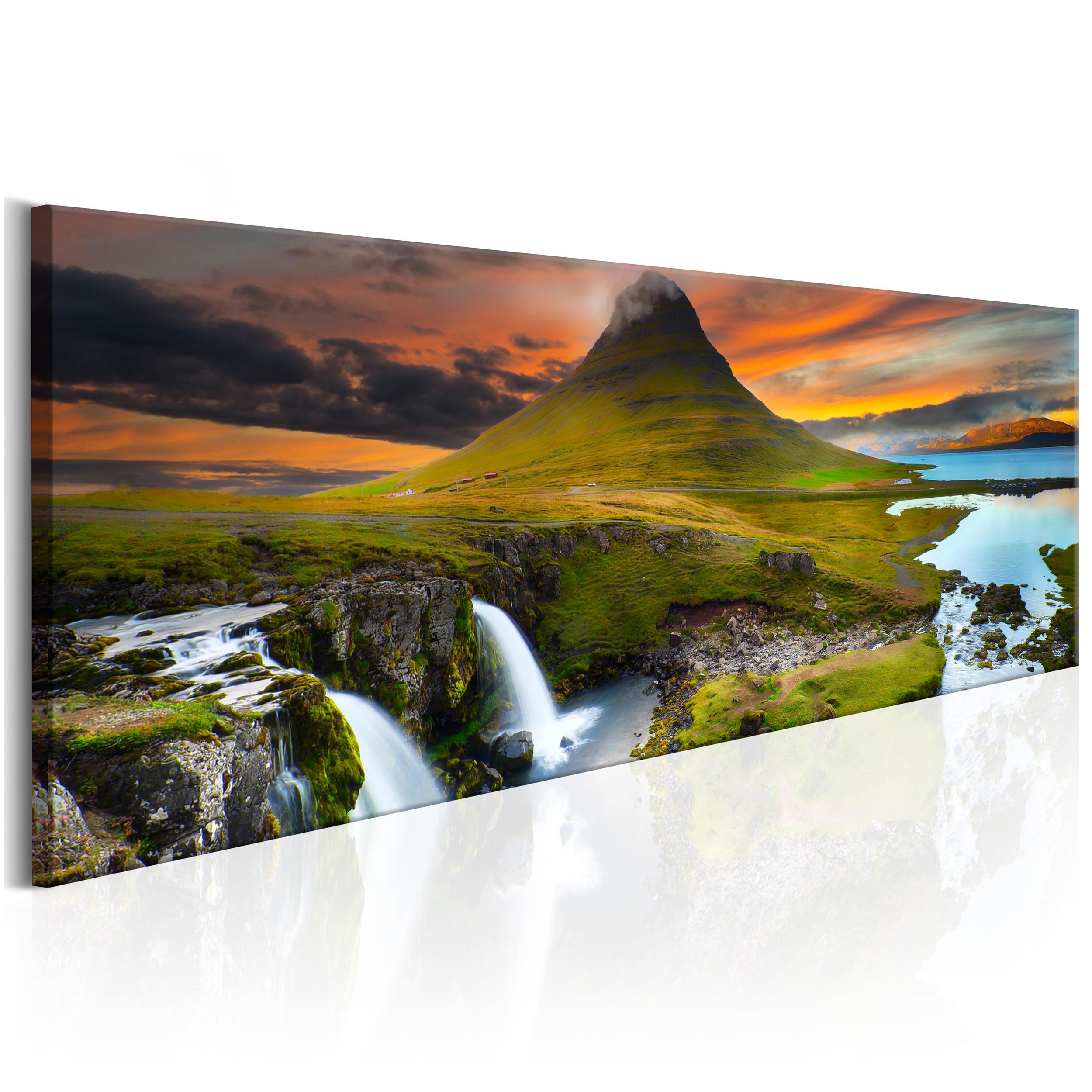 bilder leinwand bild meer landschaft ausblick strand natur wasserfall wandbilder ebay. Black Bedroom Furniture Sets. Home Design Ideas