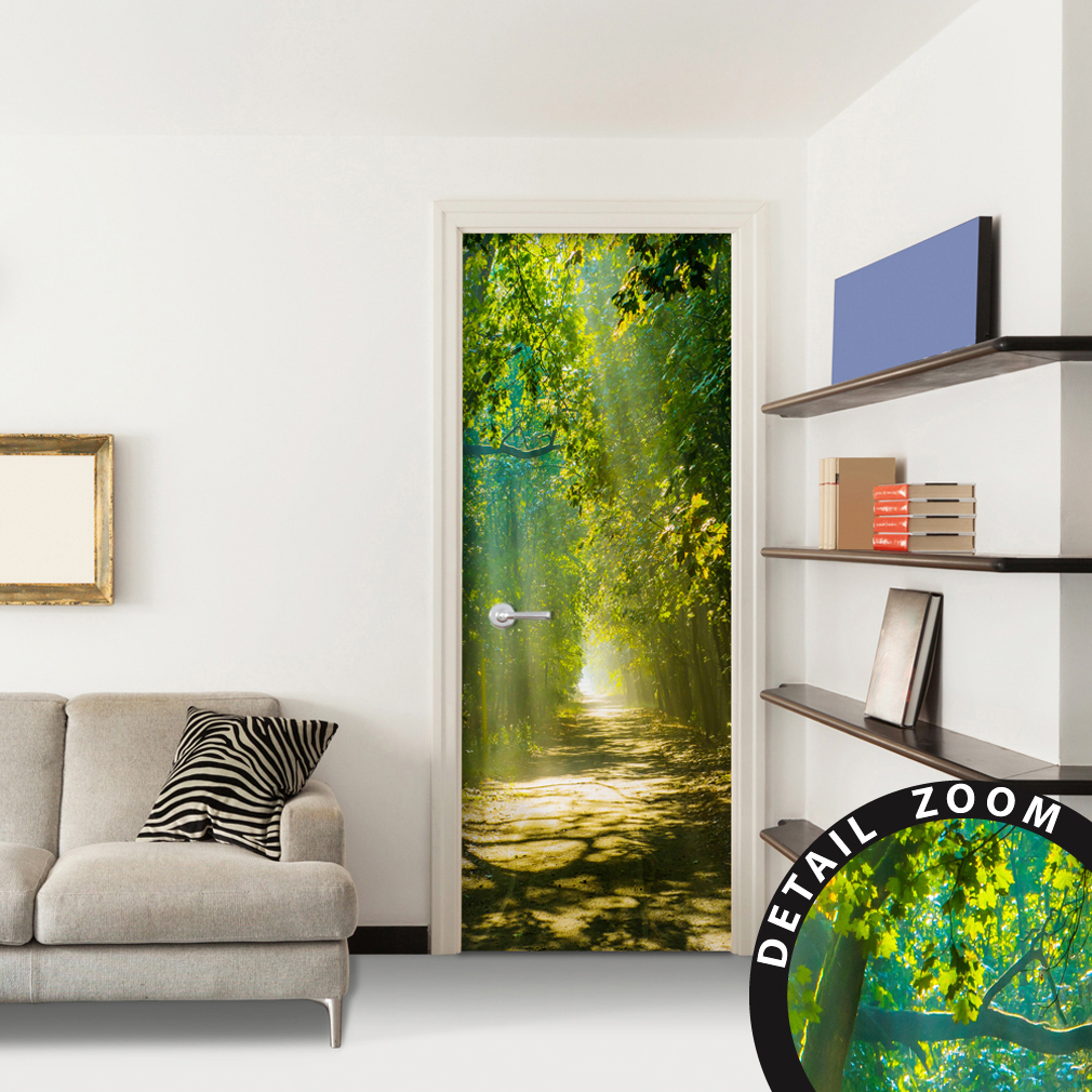 t rtapete selbstklebend t rfolie t rposter t raufkleber fototapete tunnel natur ebay. Black Bedroom Furniture Sets. Home Design Ideas