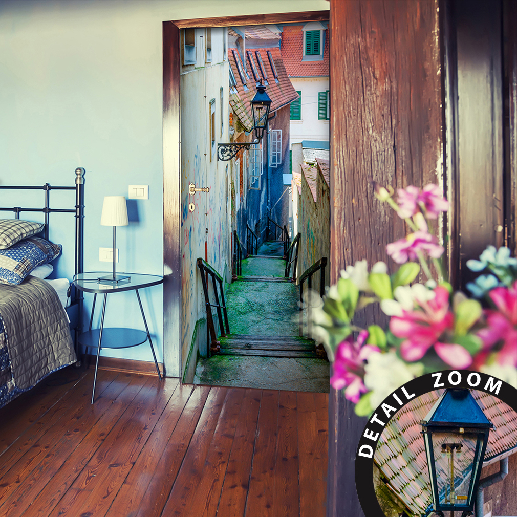 t rtapete selbstklebend t rfolie t rposter tunnel t raufkleber fototapete treppe ebay. Black Bedroom Furniture Sets. Home Design Ideas