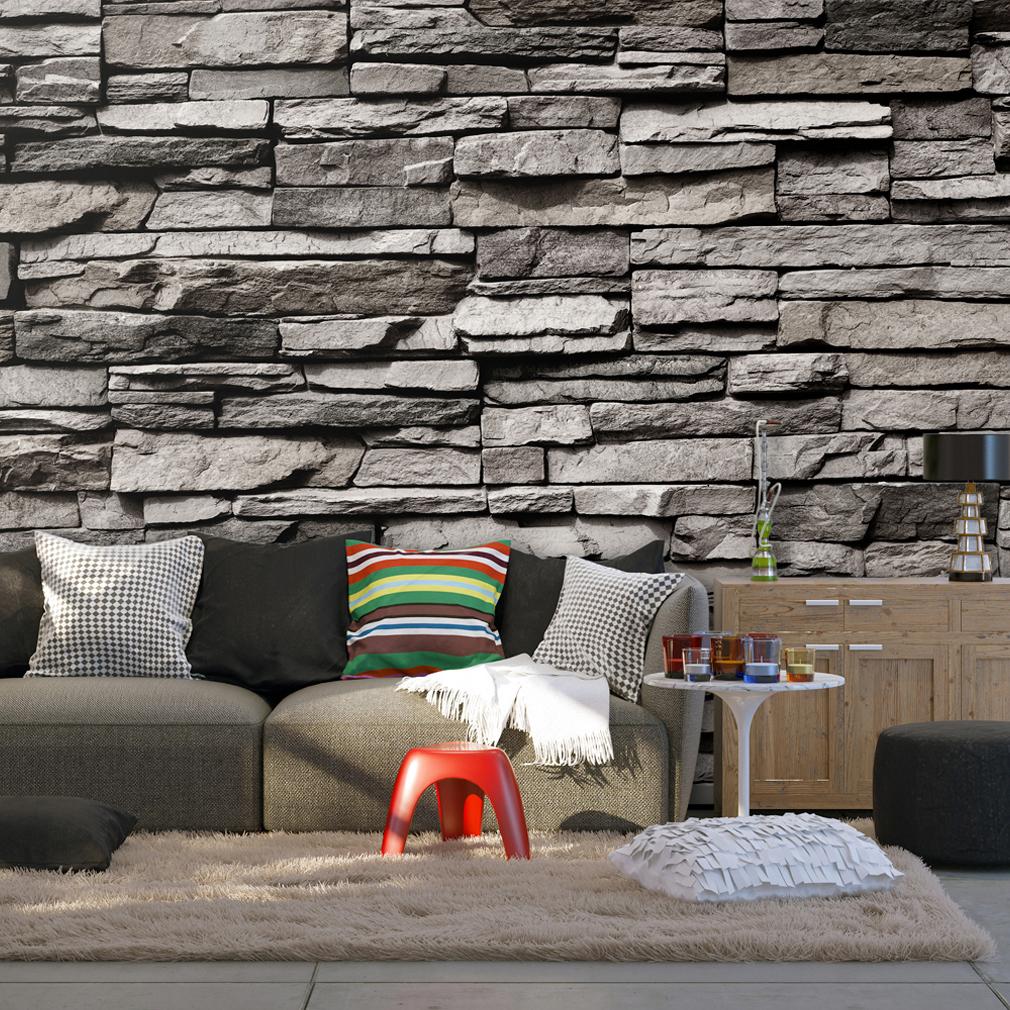 vlies fototapete steinwand tapete tapeten schlafzimmer wandbild xxl fob0011 ebay. Black Bedroom Furniture Sets. Home Design Ideas