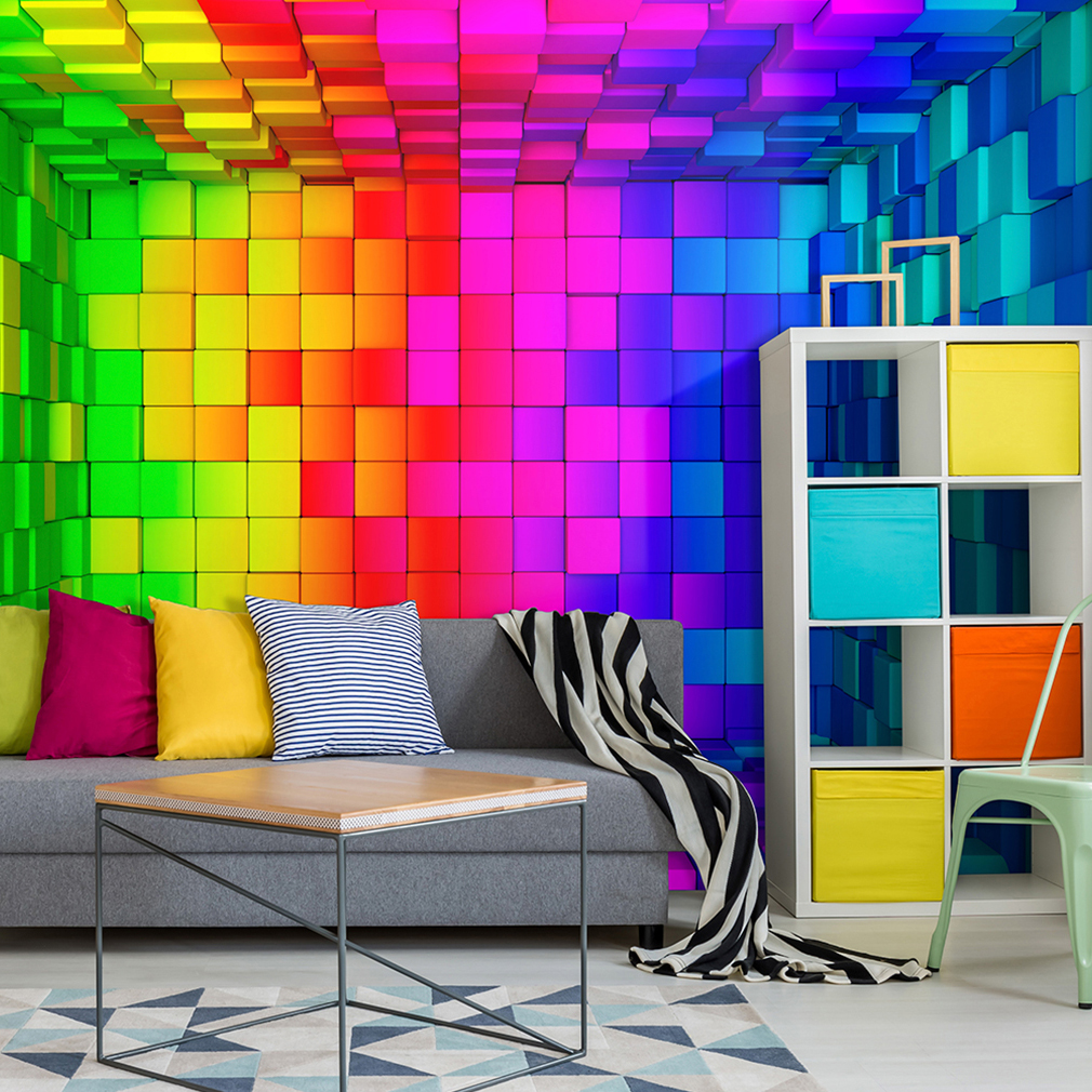 vlies fototapete 3d effect bunt tapete tapeten. Black Bedroom Furniture Sets. Home Design Ideas