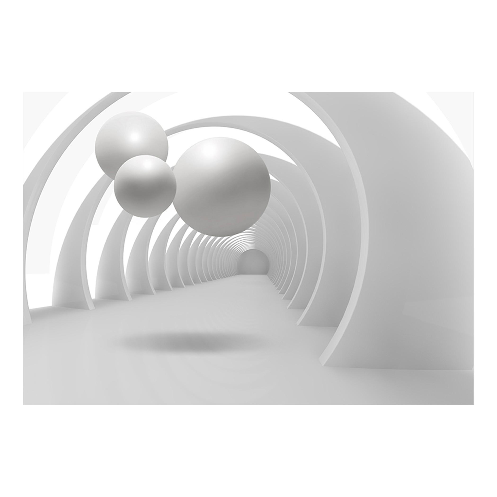 vlies fototapete 3d kugeln weiß tunnel tapete tapeten schlafzimmer ... - Tapeten Für Schlafzimmer