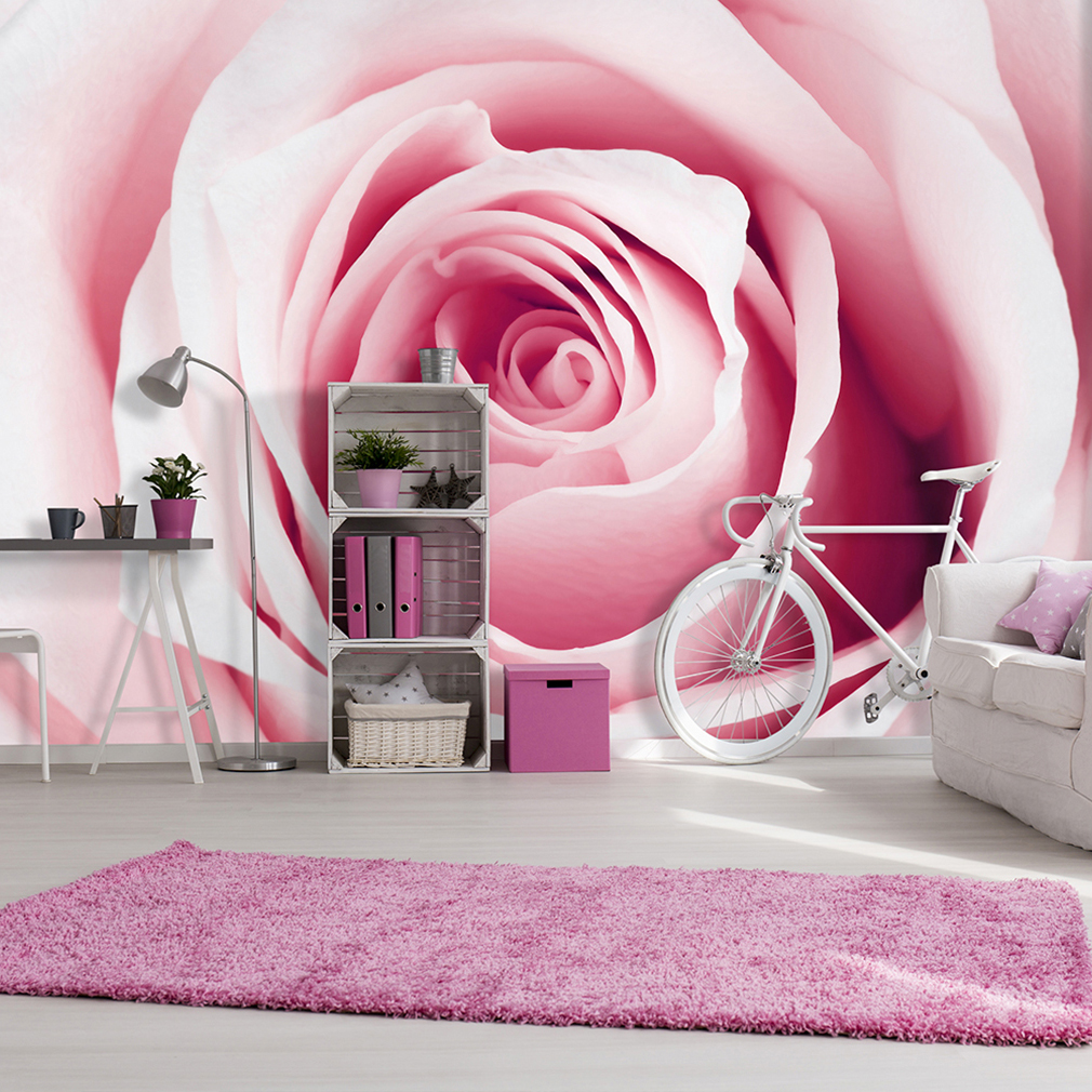 vlies fototapete blumen rosa tapete tapeten schlafzimmer wandbild xxl fob0044 ebay. Black Bedroom Furniture Sets. Home Design Ideas