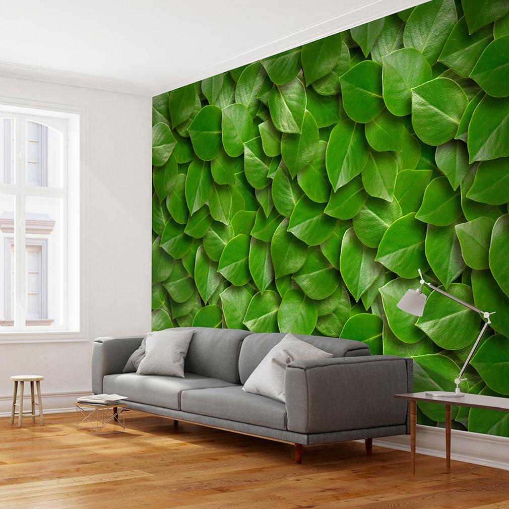 vlies fototapete laub natur gold silber tapete tapeten wandbild wanddeko 3 farbe ebay. Black Bedroom Furniture Sets. Home Design Ideas