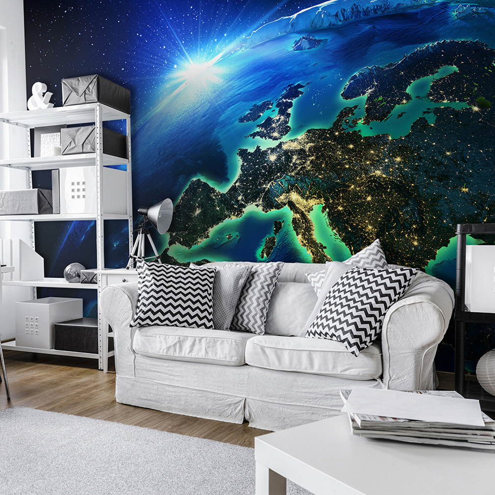 vlies fototapete weltraum welt sonne tapete tapeten schlafzimmer wandbild fob006 ebay. Black Bedroom Furniture Sets. Home Design Ideas