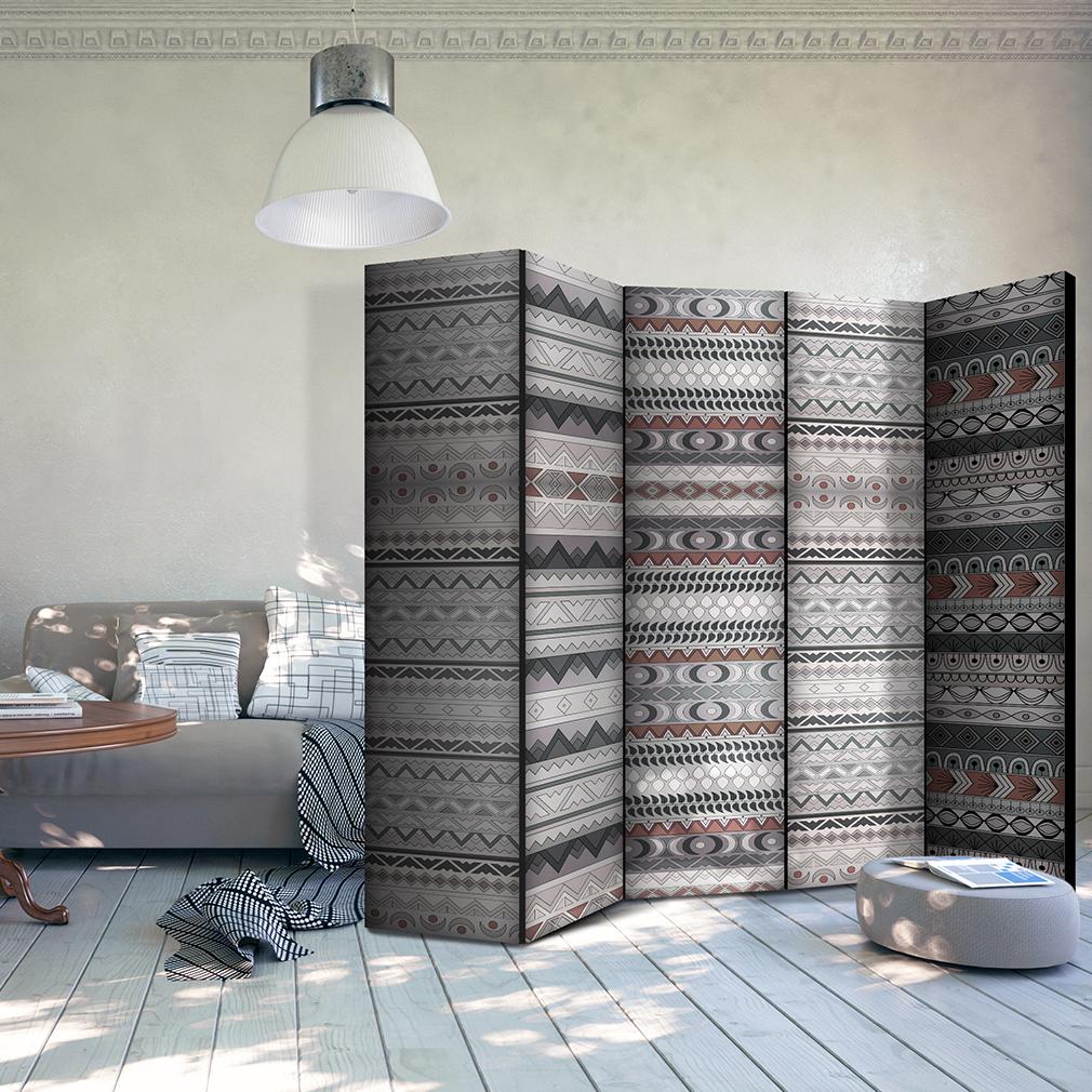 Home PARAVENT RAUMTEILER Spanische Wand TRENNWANDBlumen Design weiß Tuch 6Motiv