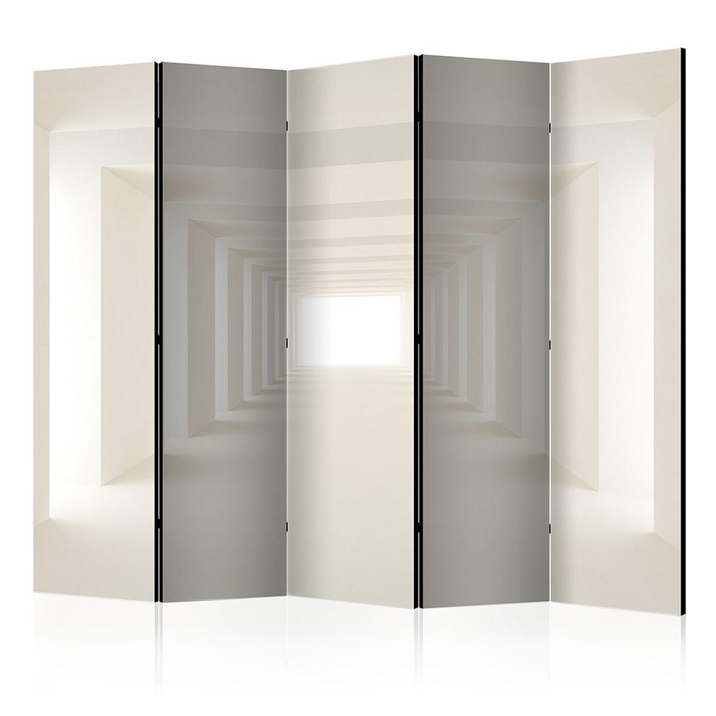 deko paravent raumteiler trennwand foto tunnel 3d optik abstrakt wei grau 2x 5x ebay. Black Bedroom Furniture Sets. Home Design Ideas
