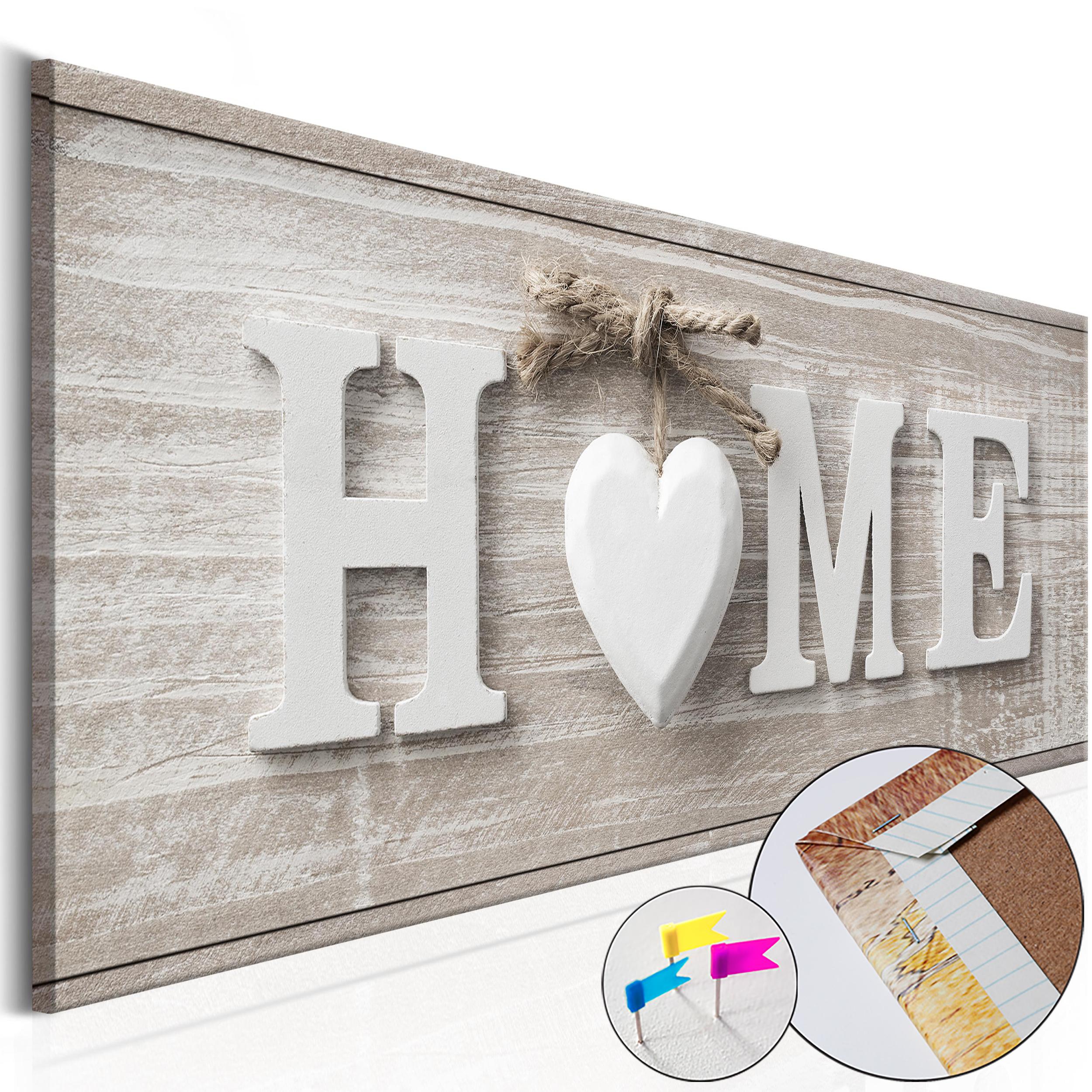 leinwandbilder bild home herz haus holz vintage retro boho. Black Bedroom Furniture Sets. Home Design Ideas