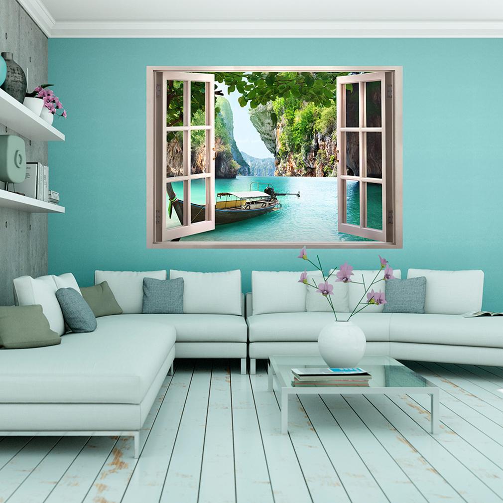 optische t uschung 3d fensterblick wandbild fototapete poster xxl toc0011 ebay. Black Bedroom Furniture Sets. Home Design Ideas