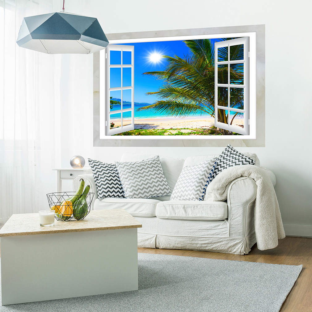 optische t uschung 3d fensterblick wandbild fototapete poster xxl toc0011 ebay. Black Bedroom Furniture Sets. Home Design Ideas