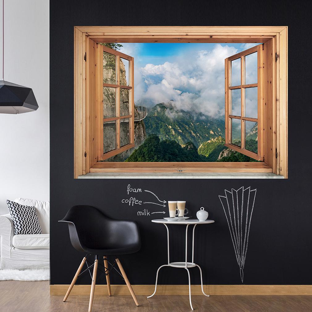 Fototapete optische täuschung  Wandsticker 3D Fensterblick Wandbild Wandillusion Fototapete ...