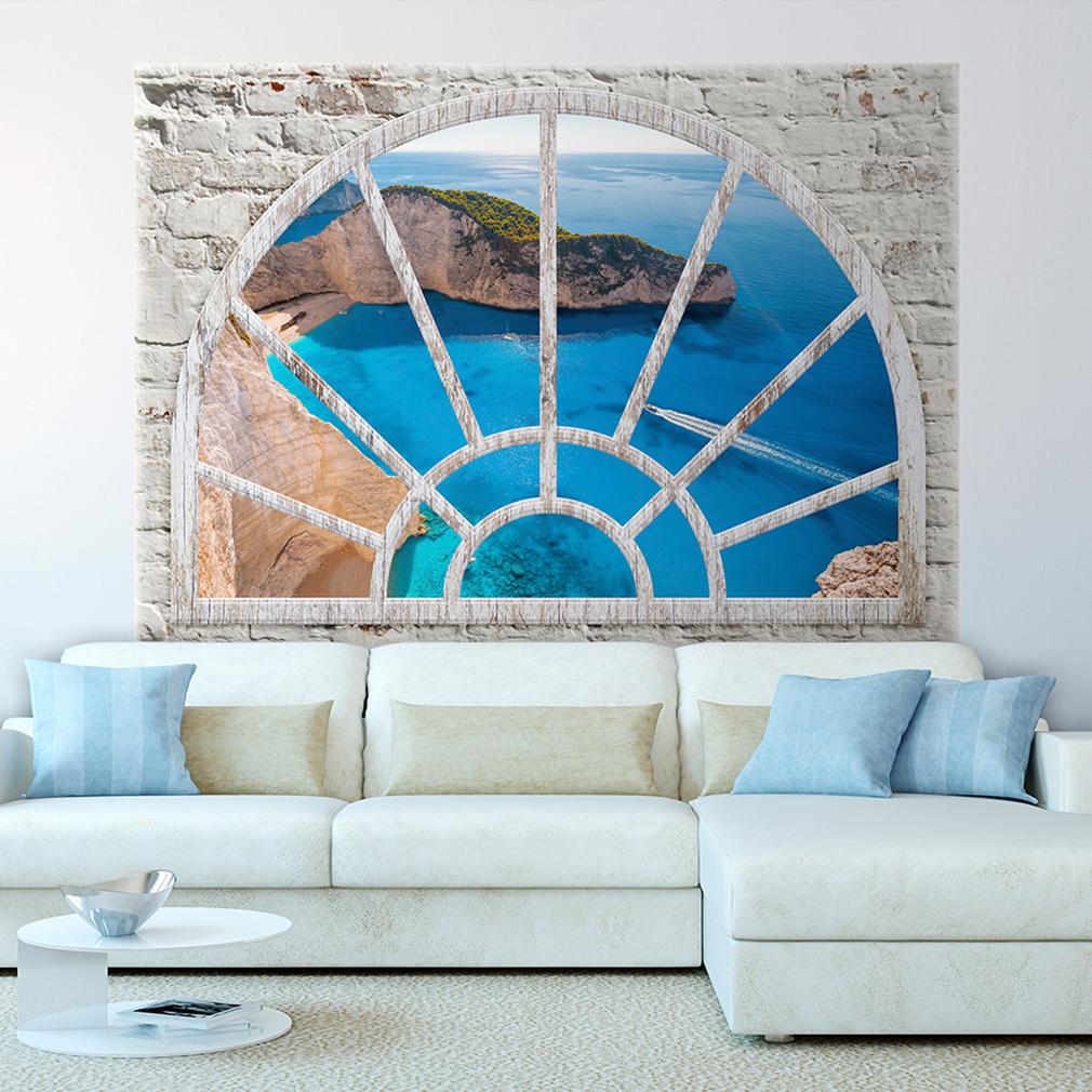 optische t uschung 3d fensterblick wandbild fototapete poster xxl toc0040 ebay. Black Bedroom Furniture Sets. Home Design Ideas