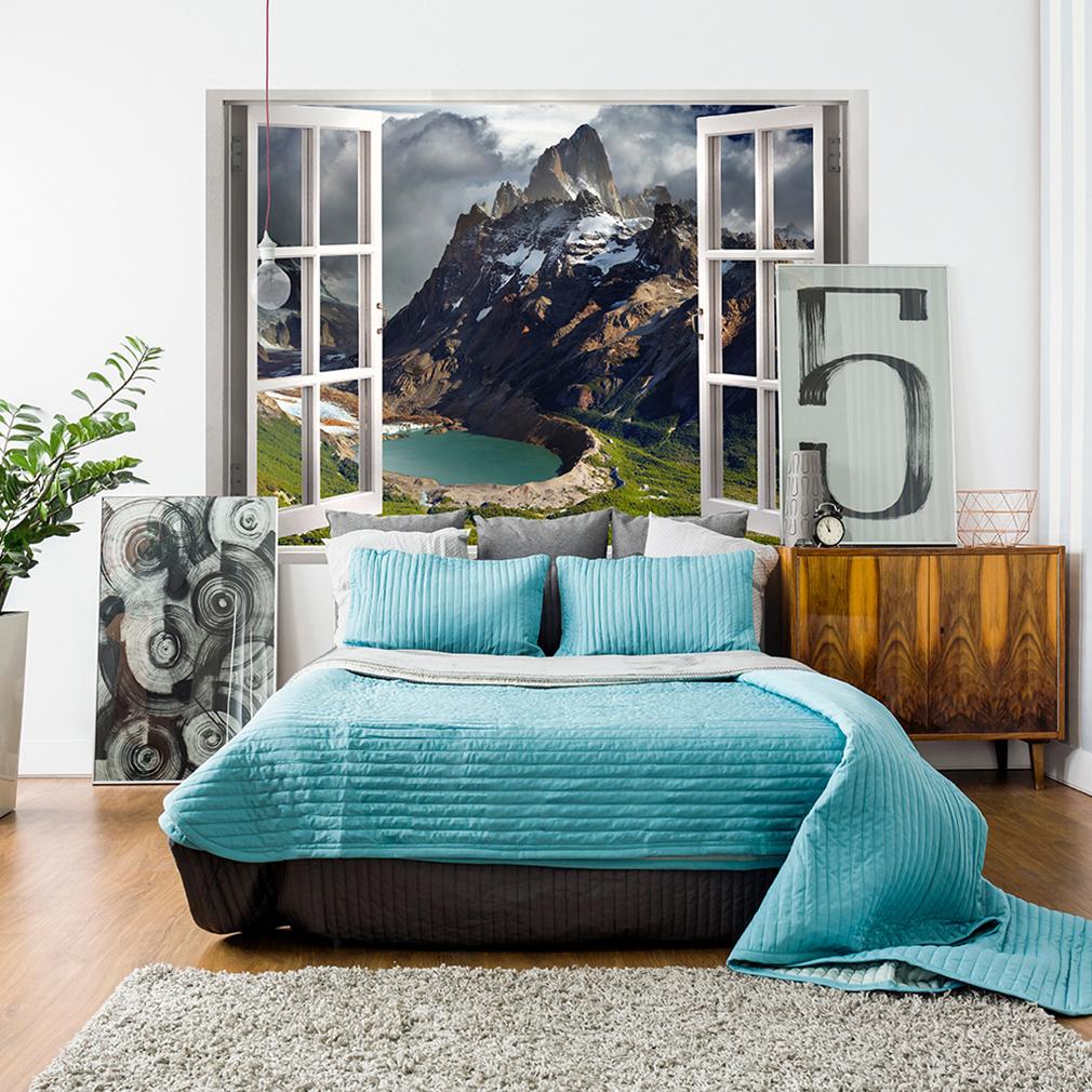 optische t uschung 3d fensterblick wandbild fototapete poster xxl toc0069 ebay. Black Bedroom Furniture Sets. Home Design Ideas