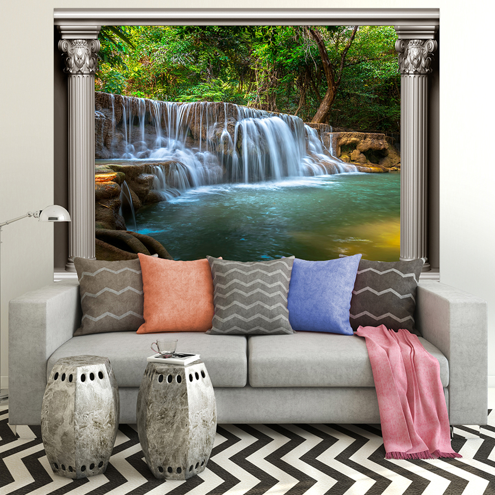 wandsticker 3d fensterblick wandbild wandillusion fototapete poster xxl toc0082 ebay. Black Bedroom Furniture Sets. Home Design Ideas