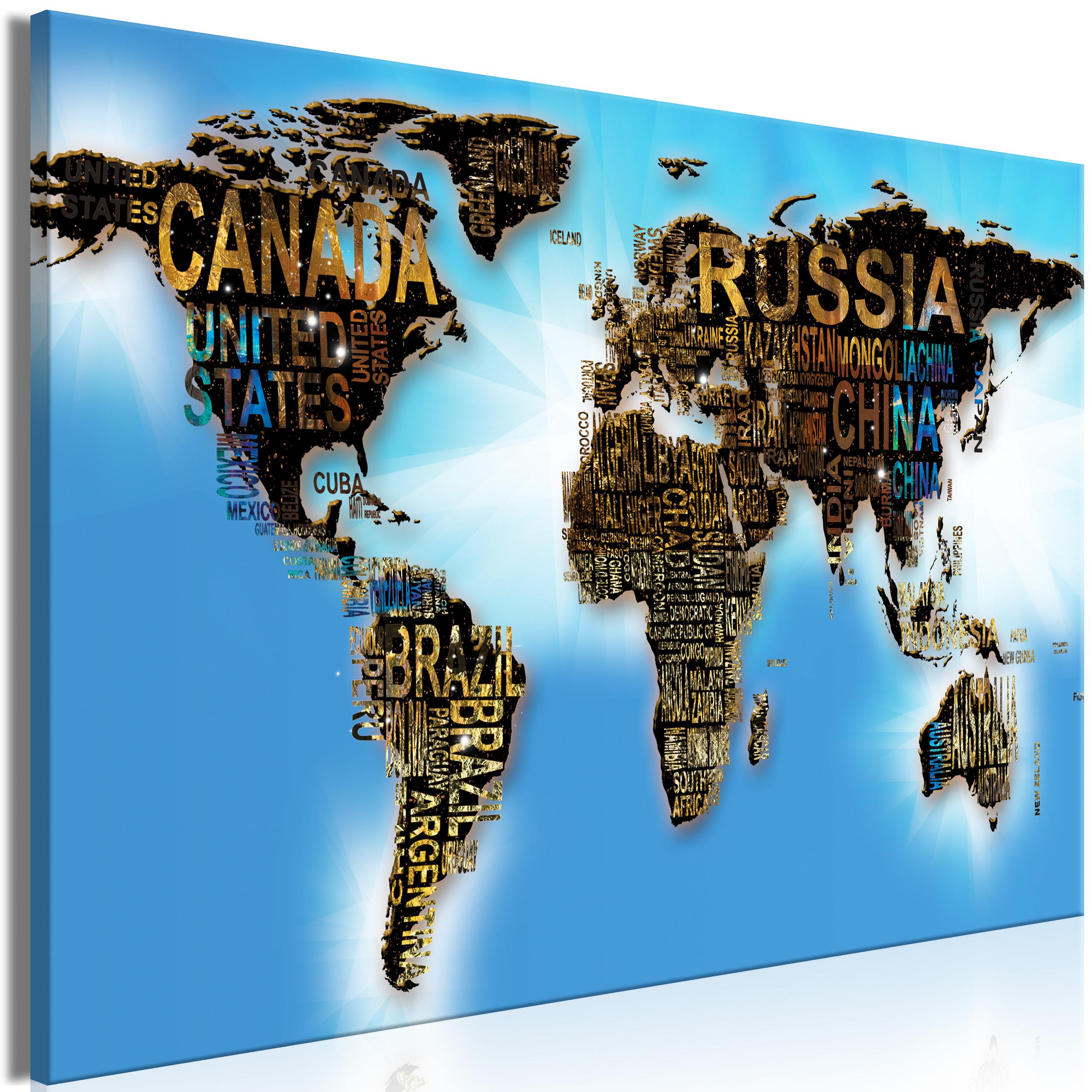Weltkarte pinnwand kork leinwandbilder bilder wandbilder for Wohnzimmer leinwandbilder
