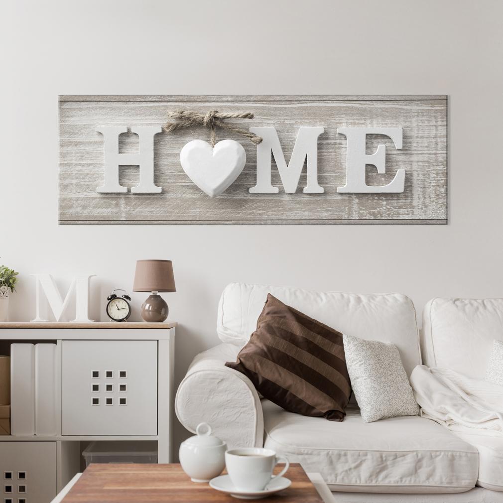 bilder leinwand bild home holz muster haus wandbilder. Black Bedroom Furniture Sets. Home Design Ideas