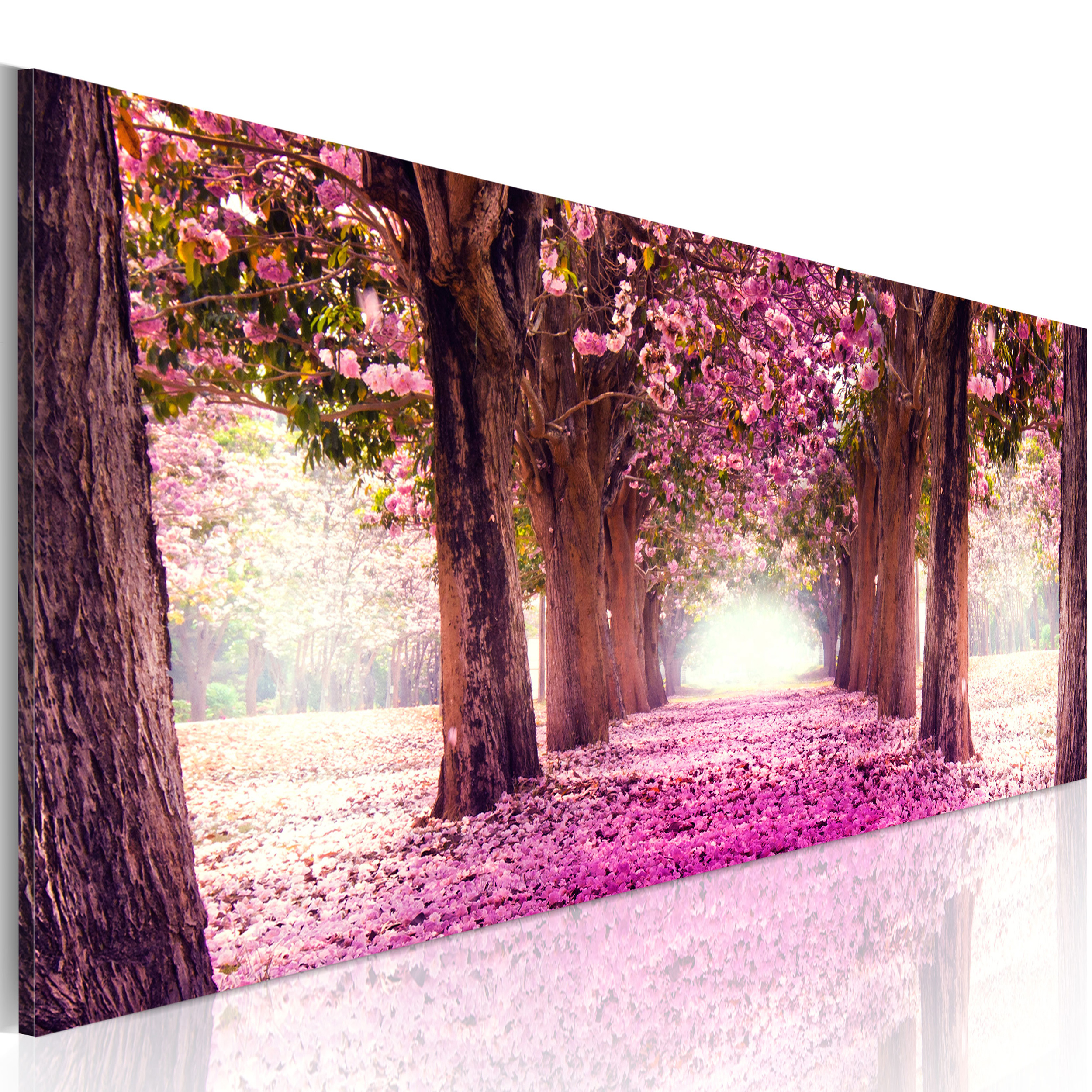 bilder leinwand bild strand meer wald blumen panorama kunstdruck gro e auswahl ebay. Black Bedroom Furniture Sets. Home Design Ideas