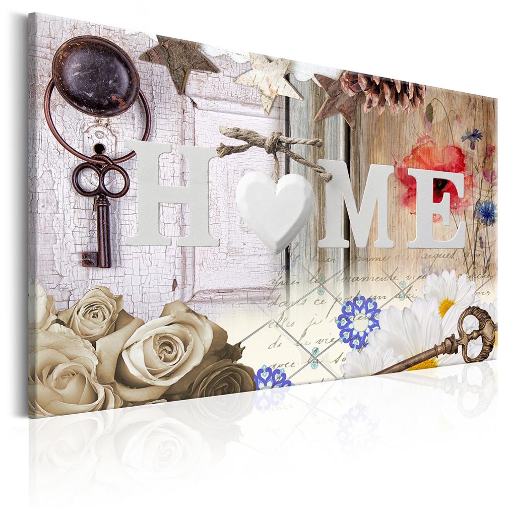 bilder leinwand bild home holz haus wandbilder kunstdruck. Black Bedroom Furniture Sets. Home Design Ideas