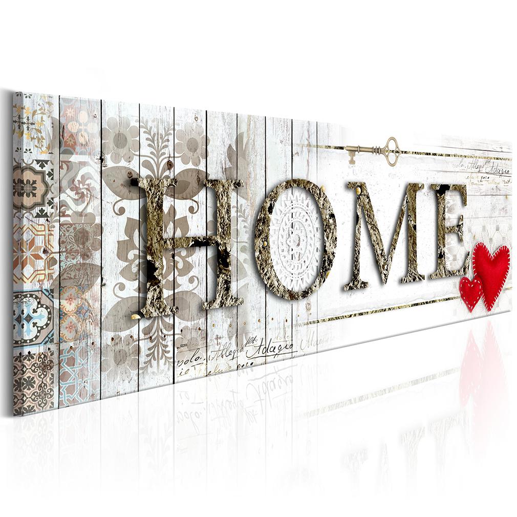 bilder leinwand bild home holz haus wandbilder kunstdruck vintage retro 9 farben ebay. Black Bedroom Furniture Sets. Home Design Ideas