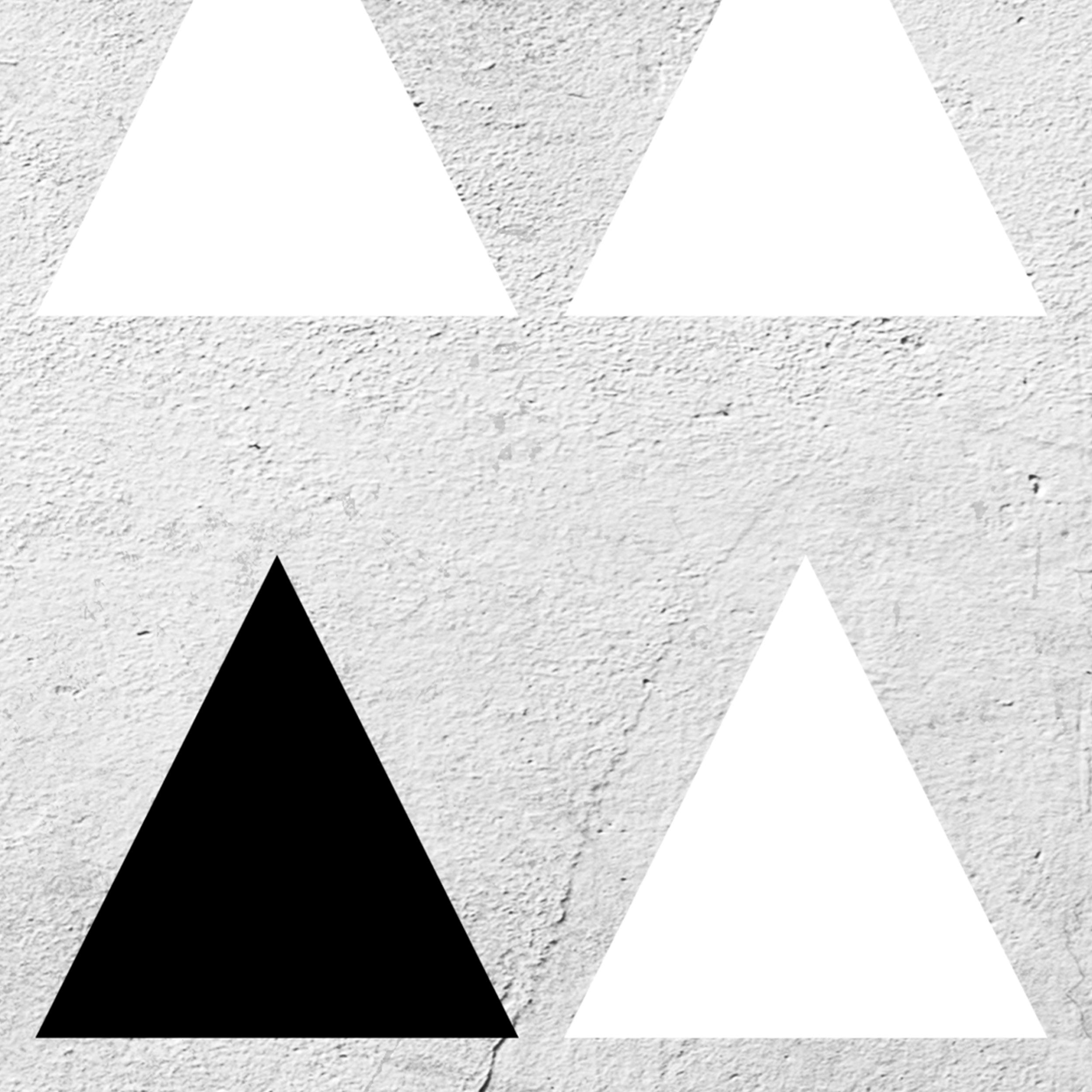 Hirsch Weihnachten LEINWAND WANDBILD Deko Bilder XL Design KUNST Triangel 4Motiv