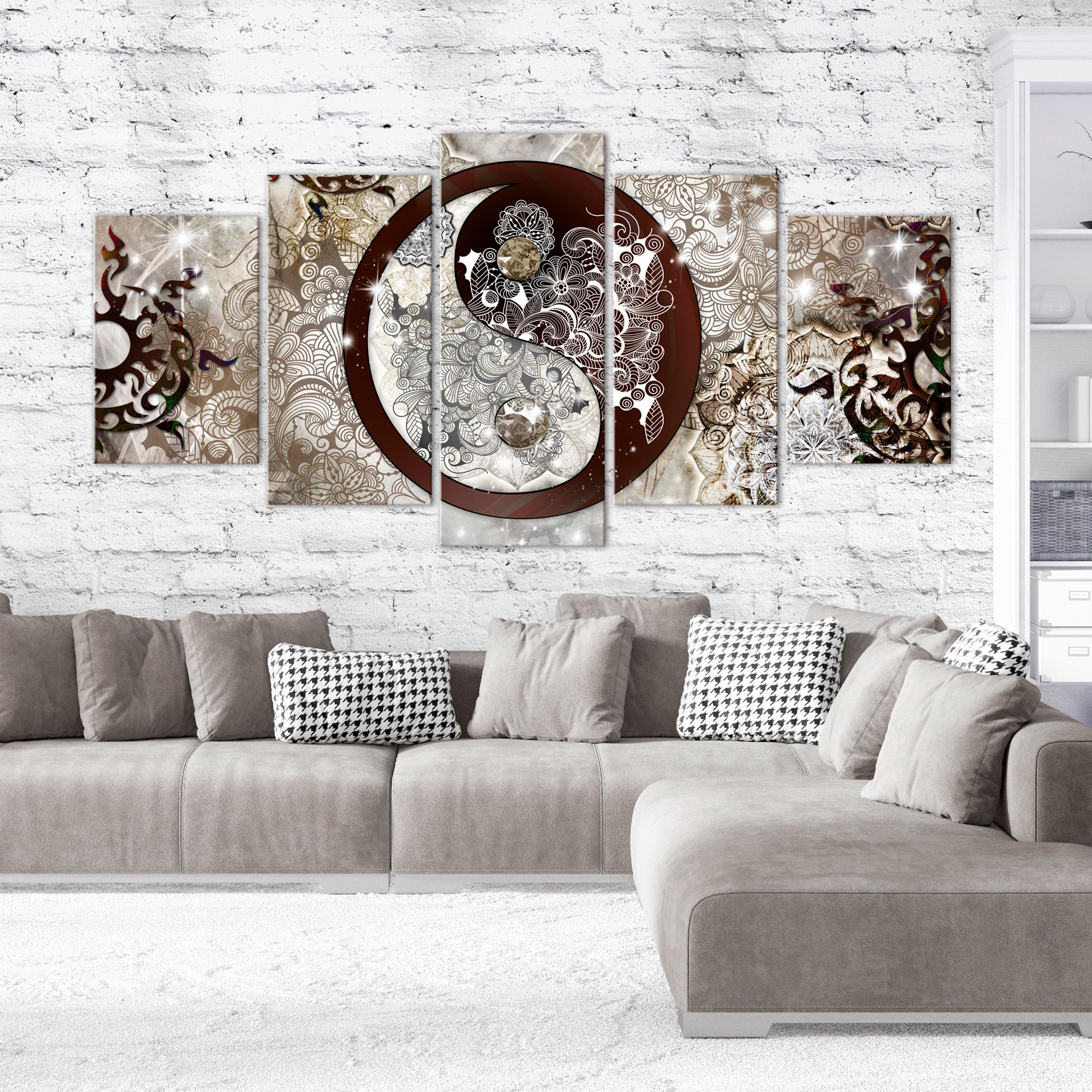 Zen Abstrakt Leinwand Bilder Bild Wandbilder Yin Yang Xxl Wohnzimmer Mehrteilig Ebay
