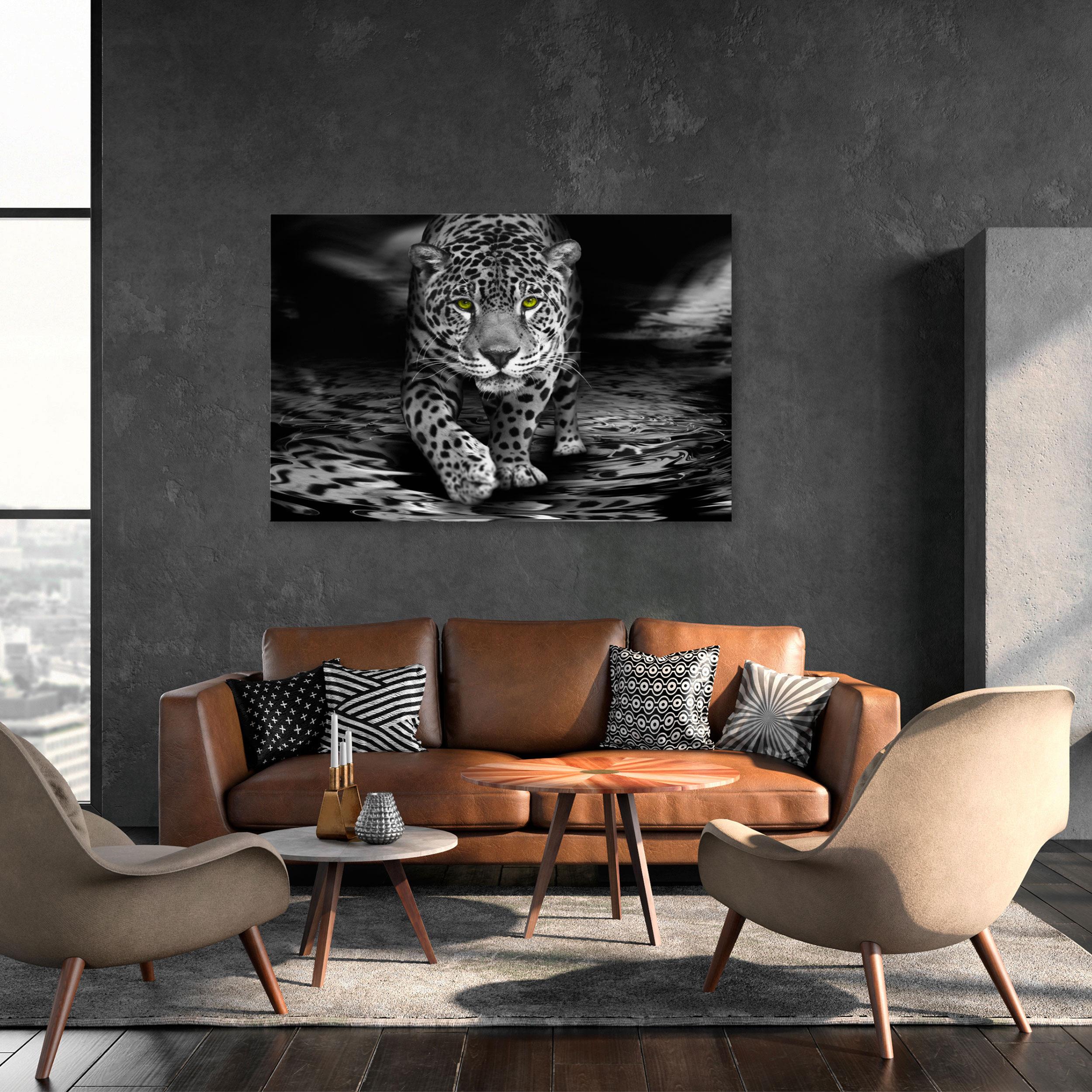 Gepard Vlies Leinwand DEKO BILDER Wandbilder XXL Wohnzimmer Druck Wildkatze Groß