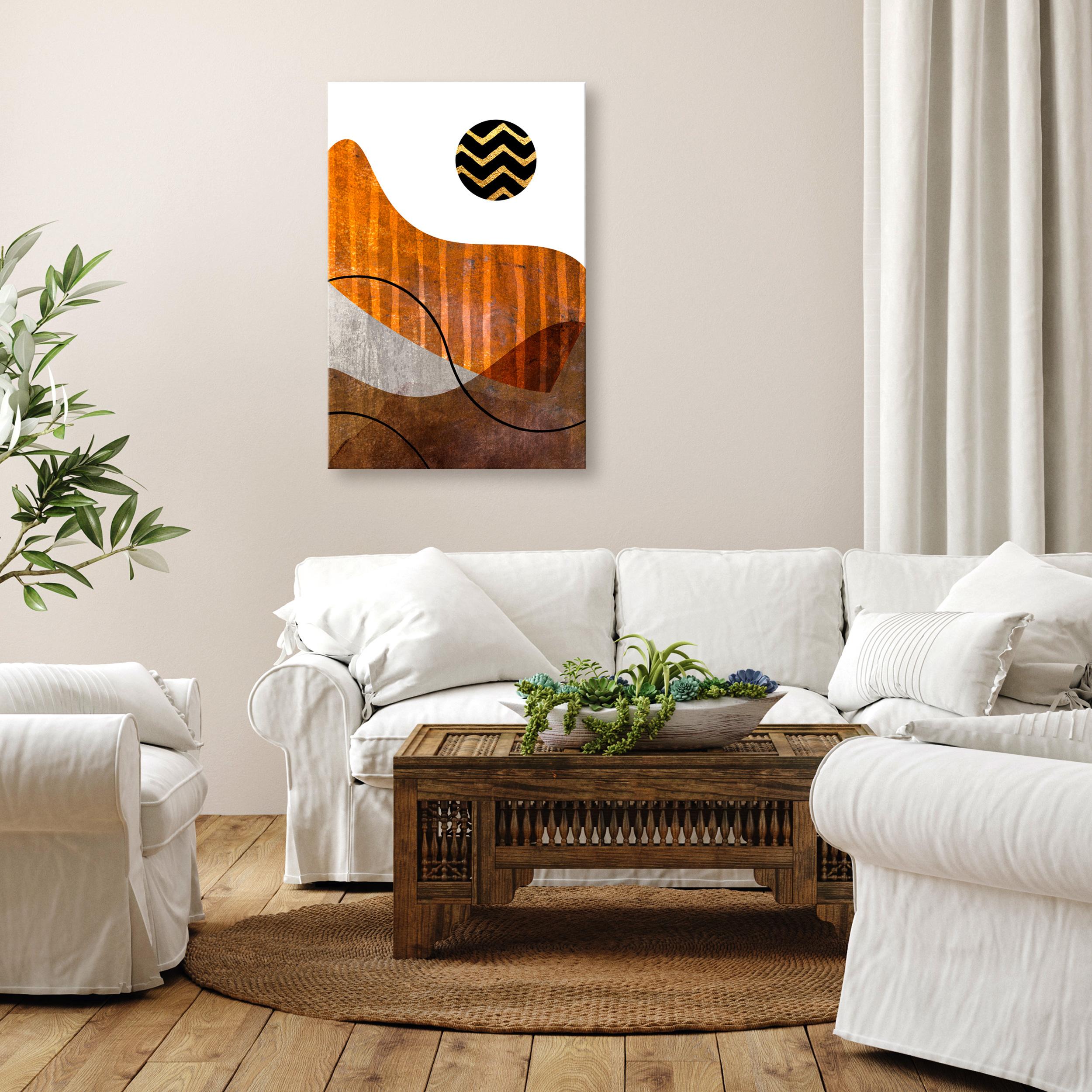 Berge LEINWAND Deko Bilder XXL Wandbilder Natur Abstrakt