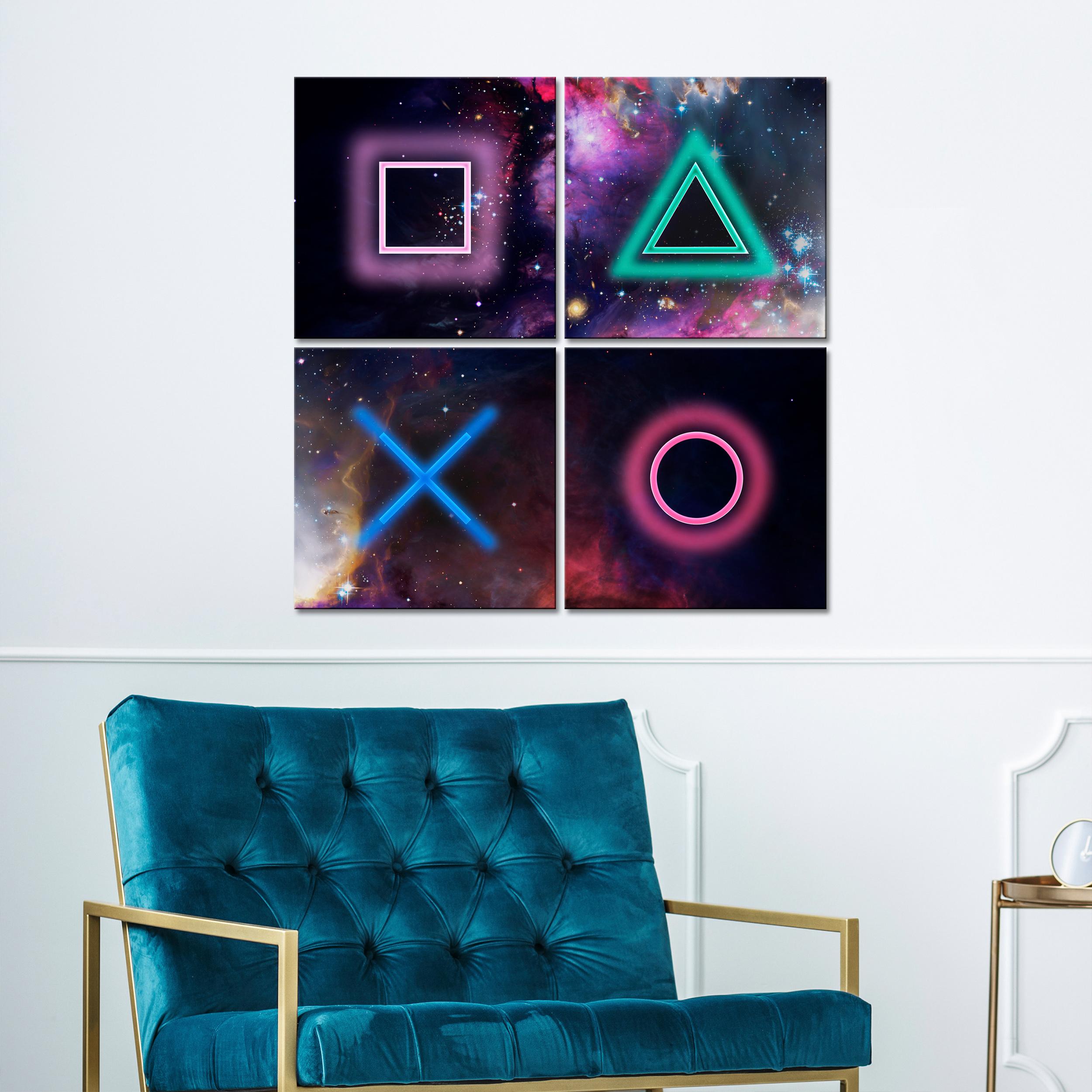 Indexbild 6 - Leinwand DEKO BILDER Spieler PlayStation Wandbild XXL Wohnzimmer Abstrakt 4Motiv