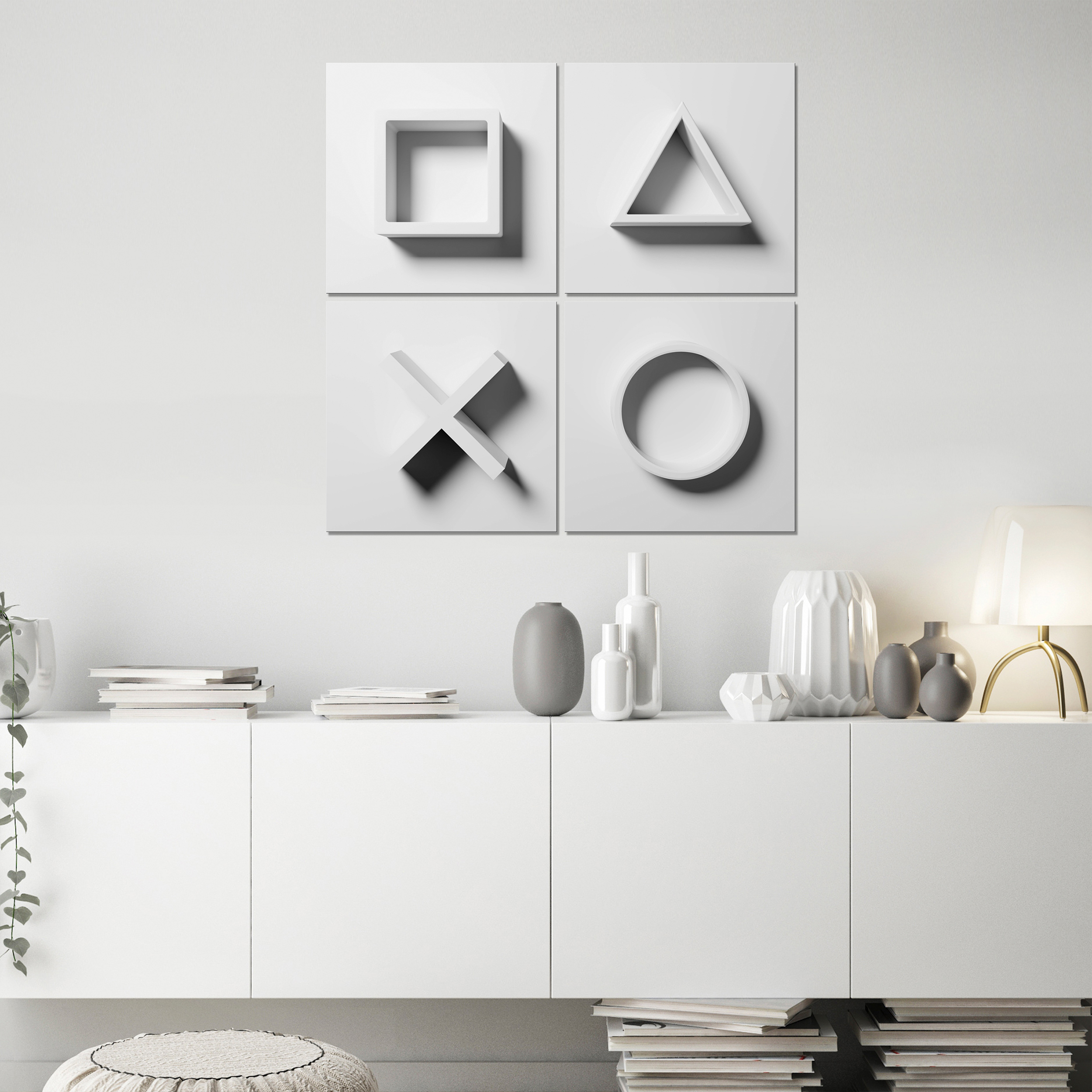 Indexbild 9 - Leinwand DEKO BILDER Spieler PlayStation Wandbild XXL Wohnzimmer Abstrakt 4Motiv