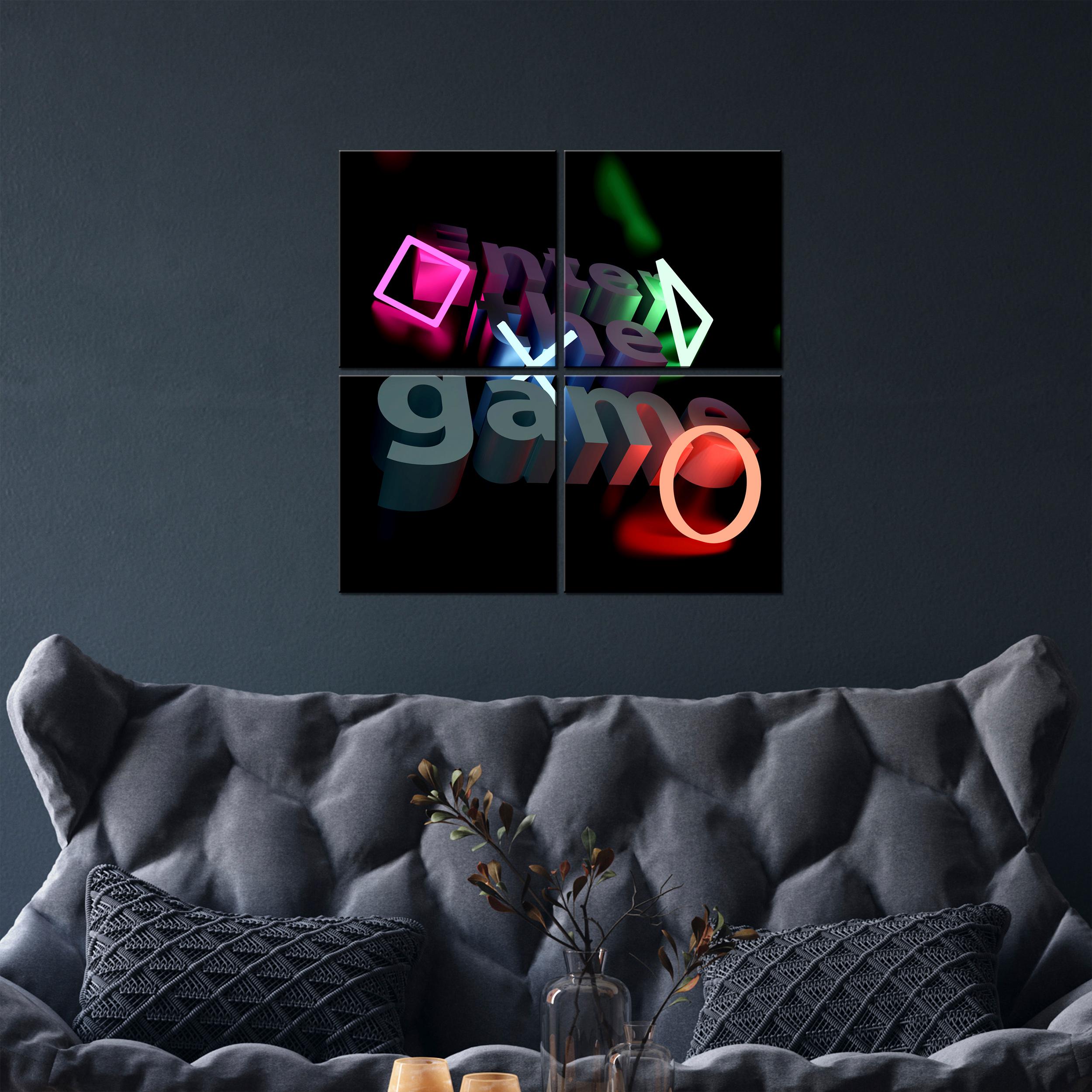 Indexbild 12 - Leinwand DEKO BILDER Spieler PlayStation Wandbild XXL Wohnzimmer Abstrakt 4Motiv