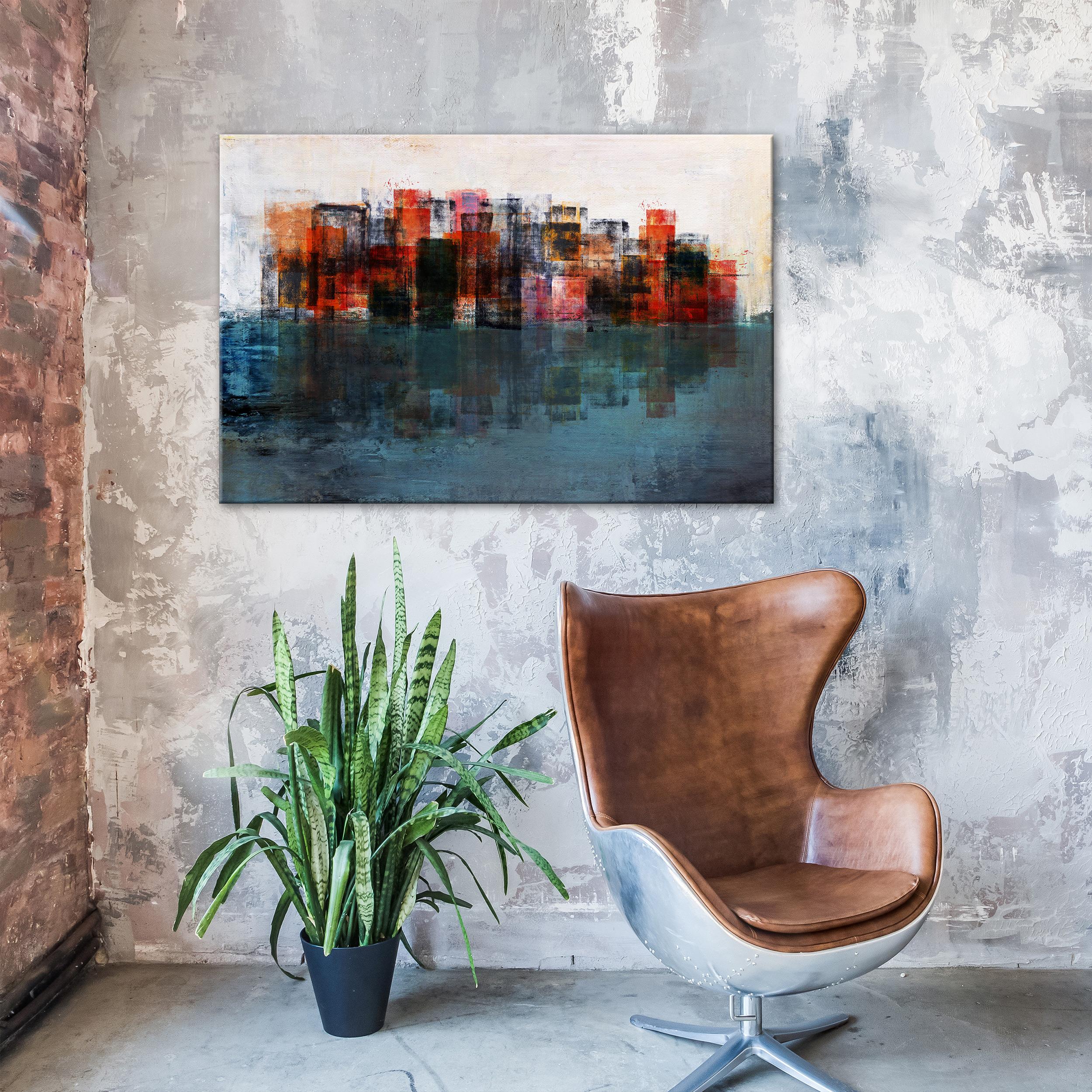 ABSTRAKT PFLANZEN GEOMETRISCH Wandbilder xxl Bilder Vlies Leinwand n-A-0936-b-a