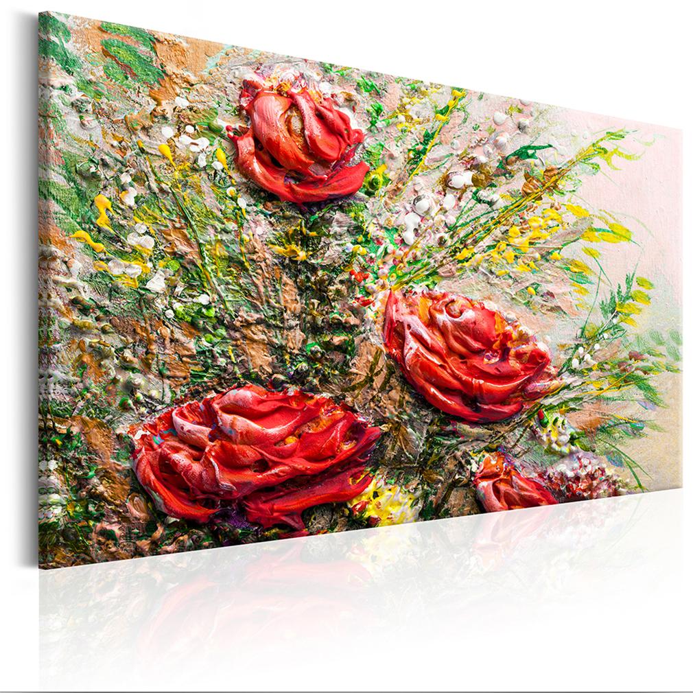 leinwand bilder blumen rosen ilbild 120x80 wandbilder xxl wohnzimmer 6 farben ebay. Black Bedroom Furniture Sets. Home Design Ideas