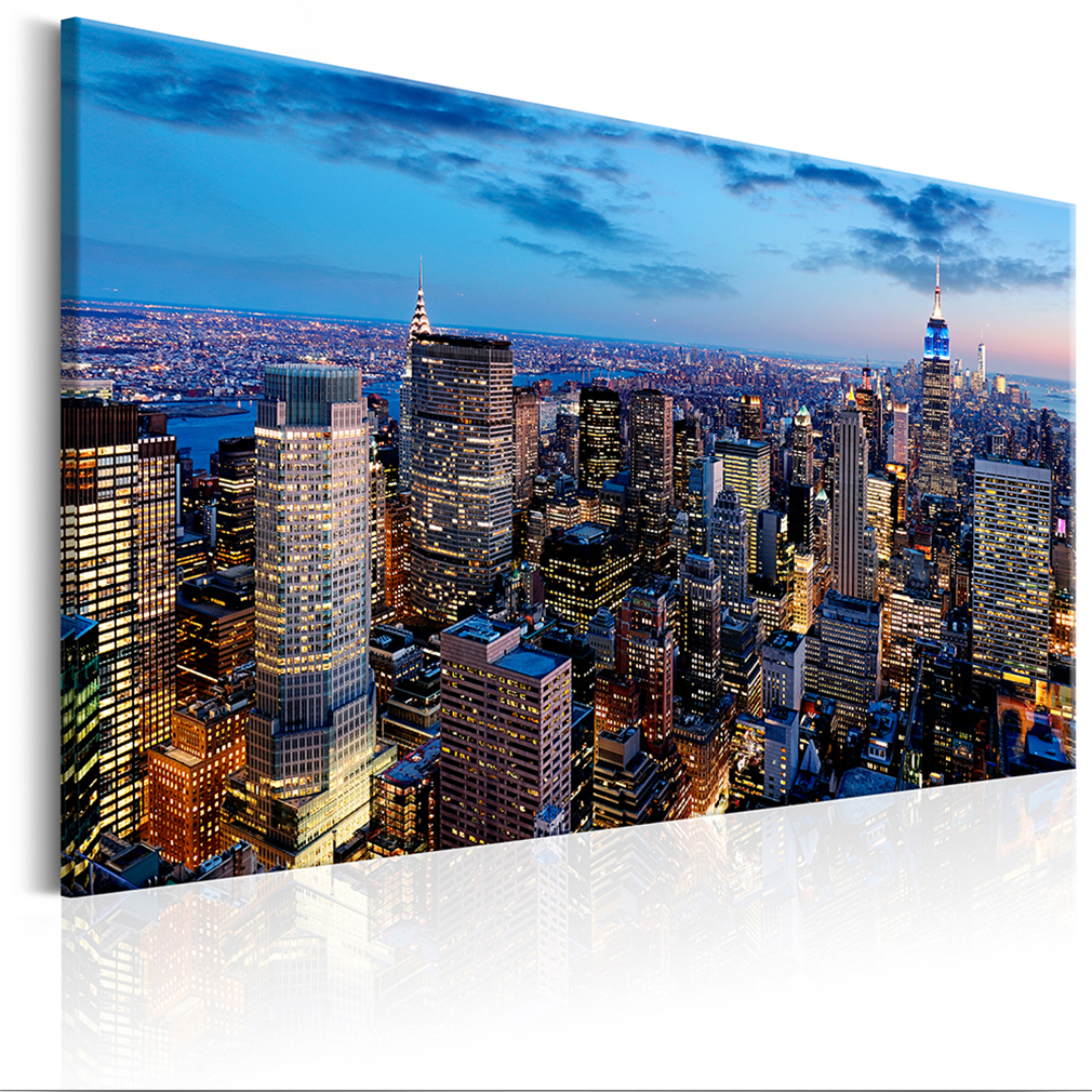 bilder leinwand bild new york skyline panorama 120x80. Black Bedroom Furniture Sets. Home Design Ideas
