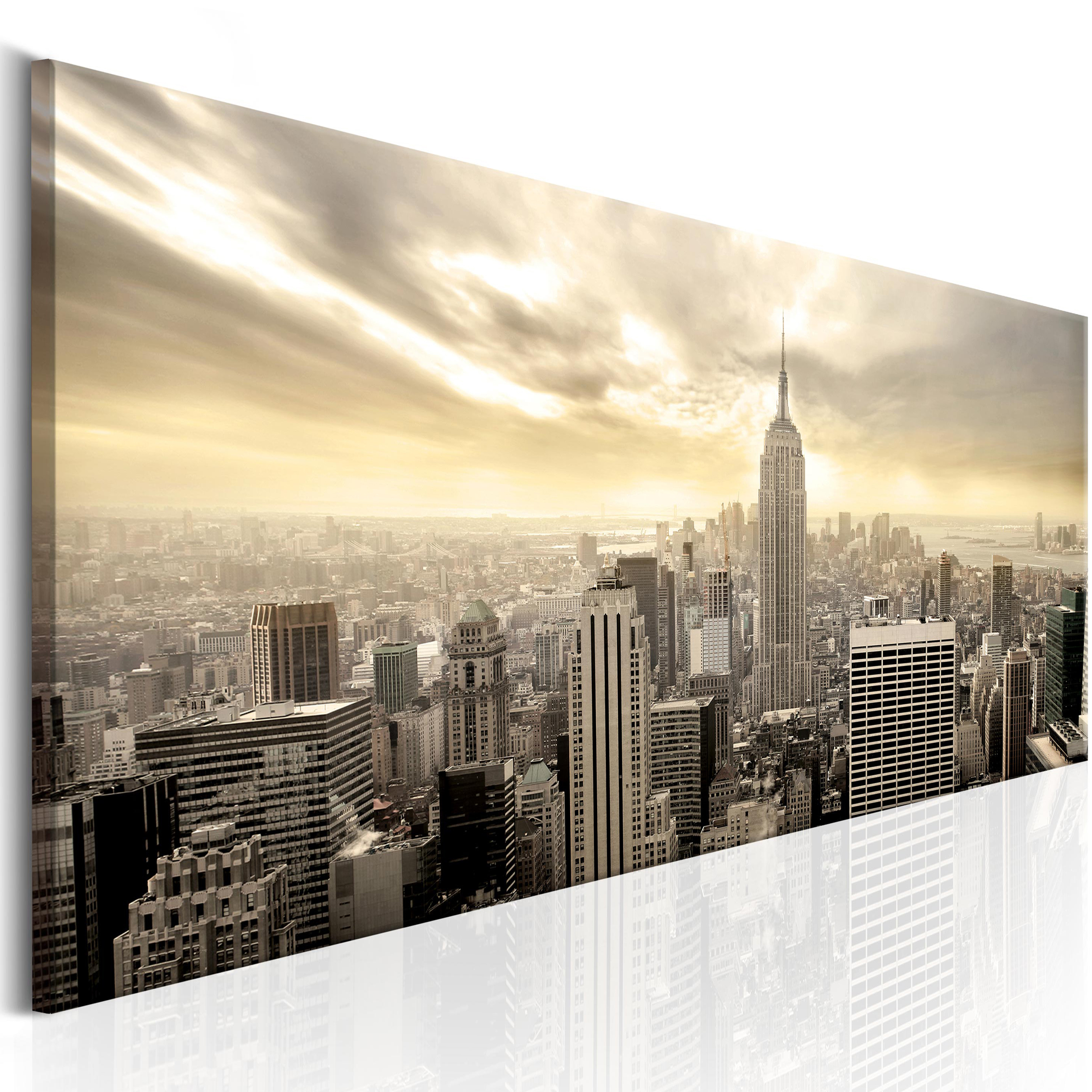 leinwand bild new york skyliner stadt wandbilder bilder. Black Bedroom Furniture Sets. Home Design Ideas