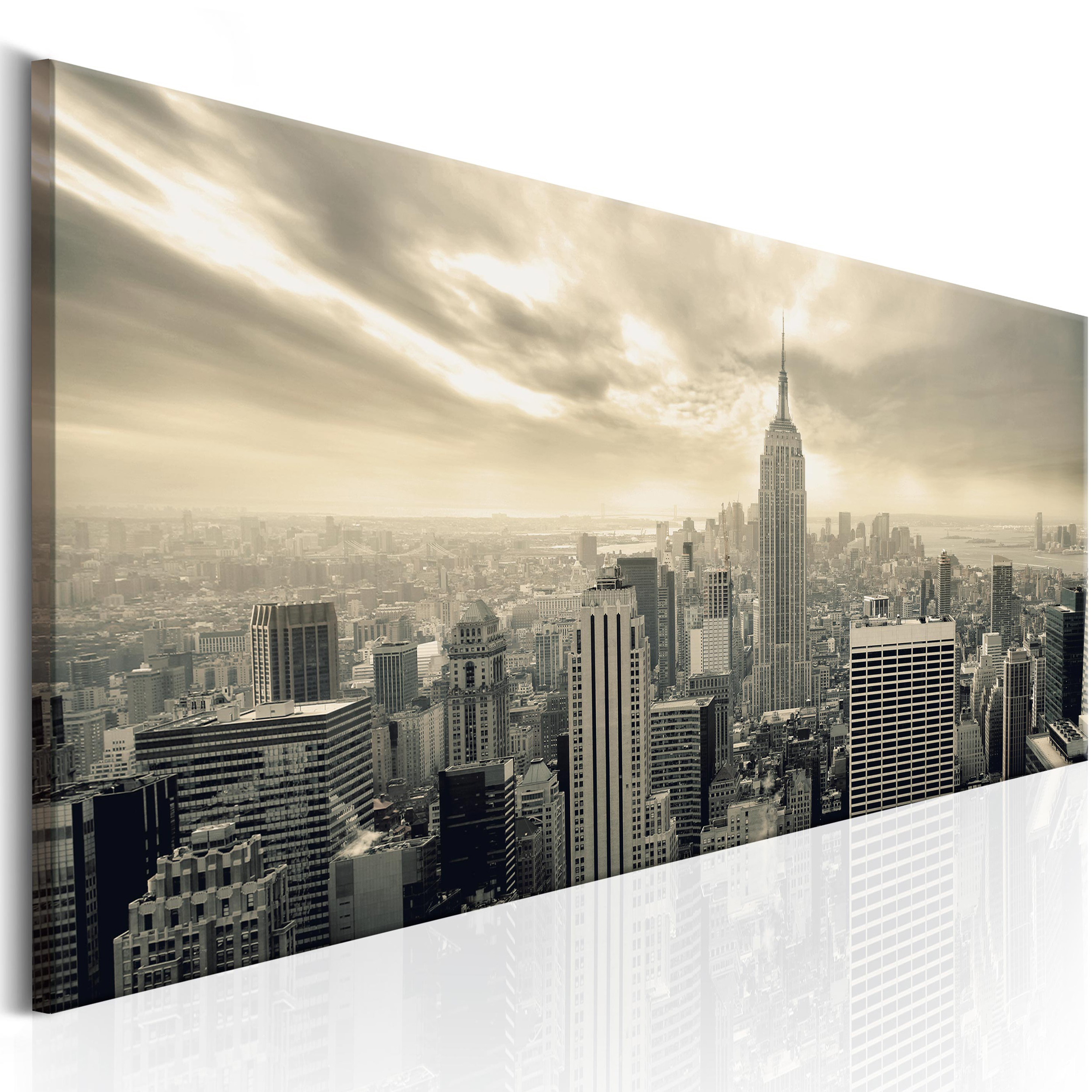 leinwand bilder new york skyline stadt wandbilder xxl wohnzimmer gro auswahl ebay. Black Bedroom Furniture Sets. Home Design Ideas
