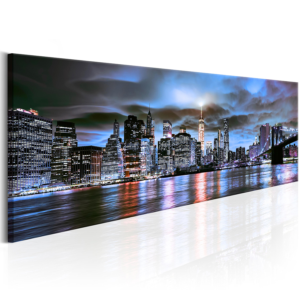 bilder leinwand stadt new york wandbilder bild kunstdruck panorama gro e auswahl ebay. Black Bedroom Furniture Sets. Home Design Ideas
