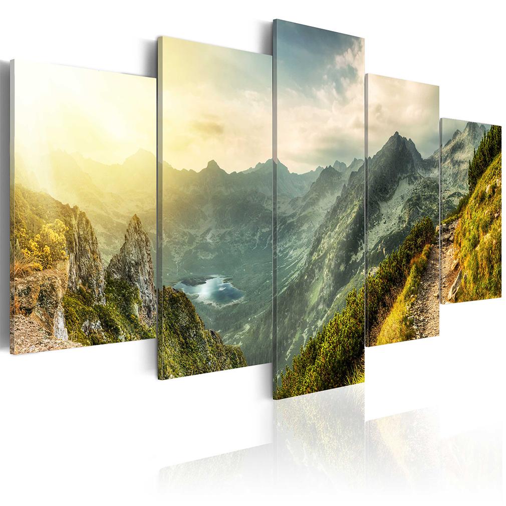 Bilder leinwand bild berge wald natur herz landschaft for Bilder wandbilder
