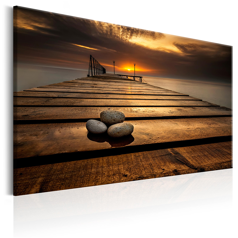 bilder leinwand bild meer strand sonnenuntergang natur landschaft wandbilder ebay. Black Bedroom Furniture Sets. Home Design Ideas