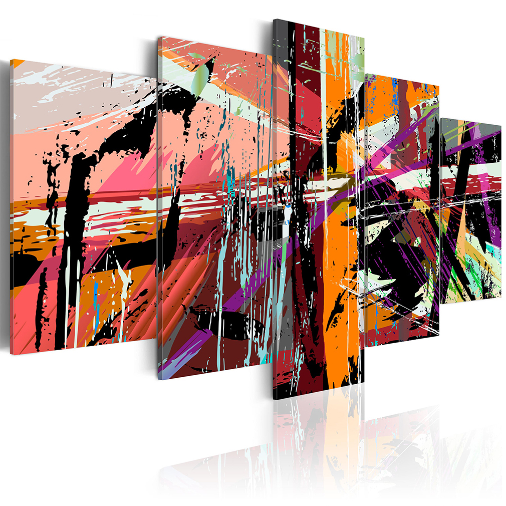 Leinwand bilder abstrakt diamant silber wandbilder xxl for Wandbilder wohnzimmer abstrakt
