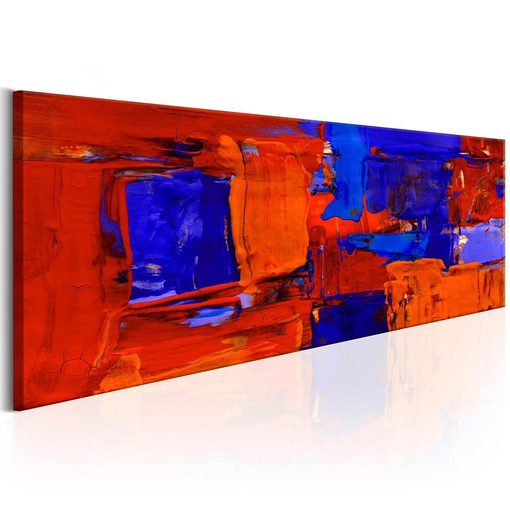 bilder leinwand bild abstrakt bunt rot blau wandbilder. Black Bedroom Furniture Sets. Home Design Ideas