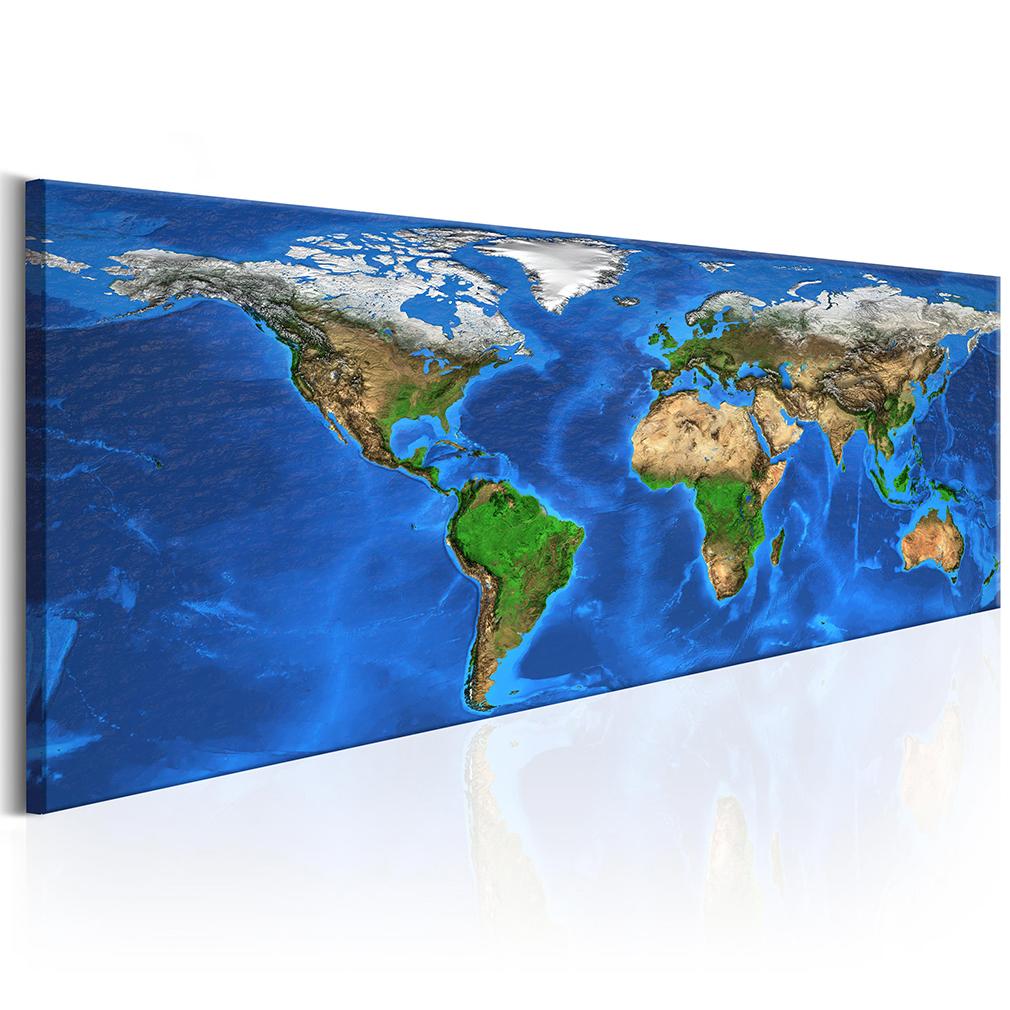 leinwand bilder weltkarte kontinente wandbilder xxl wohnzimmer kunstdruck ebay. Black Bedroom Furniture Sets. Home Design Ideas