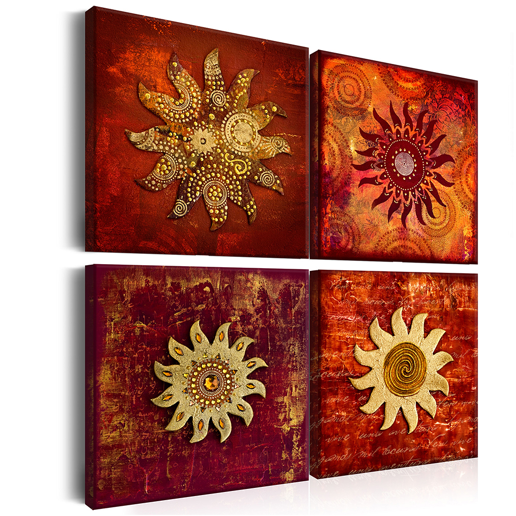 Leinwand bilder abstrakt sonne tiere braun wandbilder xxl for Wandbilder wohnzimmer abstrakt