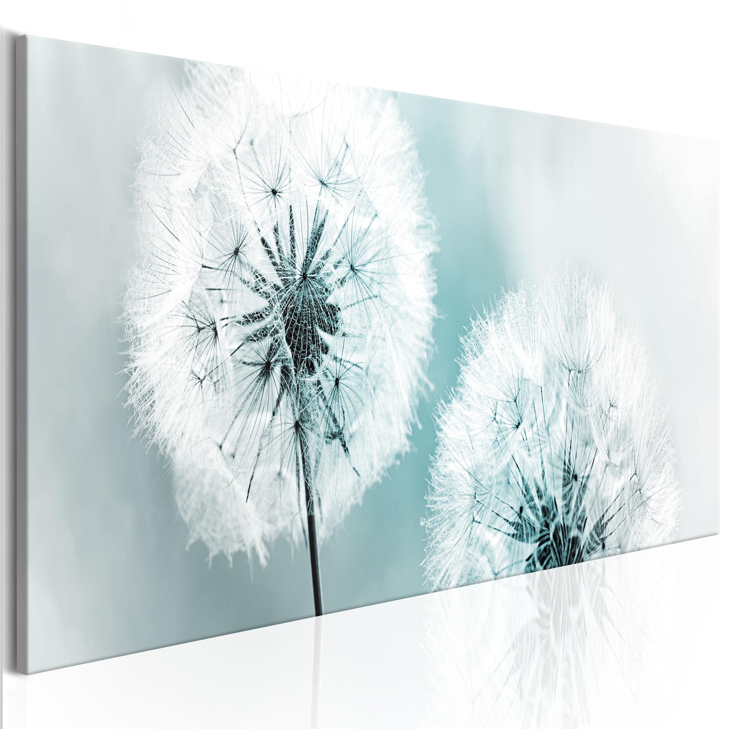 bilder leinwand bild pustelblume blumen lowenzahn wandbilder kunstdruck ebay. Black Bedroom Furniture Sets. Home Design Ideas