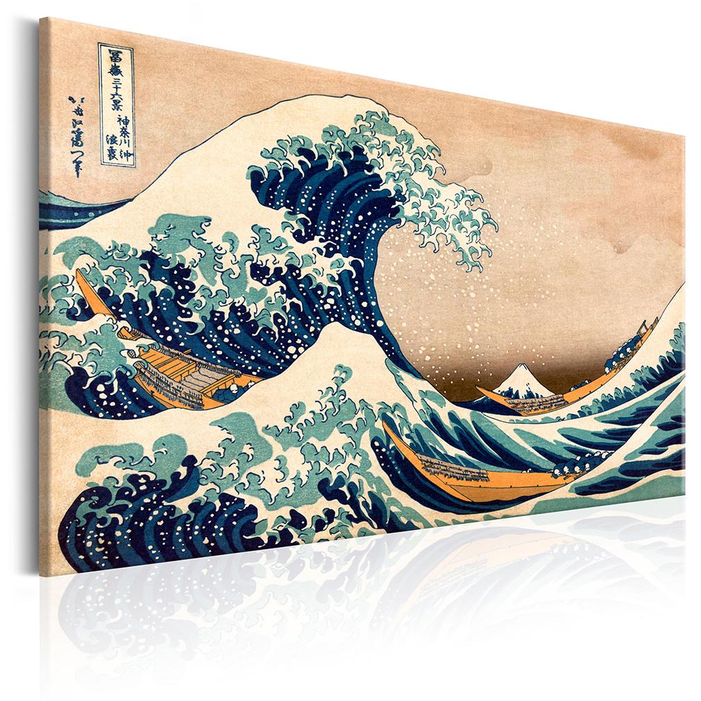 bilder leinwand japan tsunami meer asia wandbilder xxl wohnzimmer kunstdruck 228 ebay. Black Bedroom Furniture Sets. Home Design Ideas