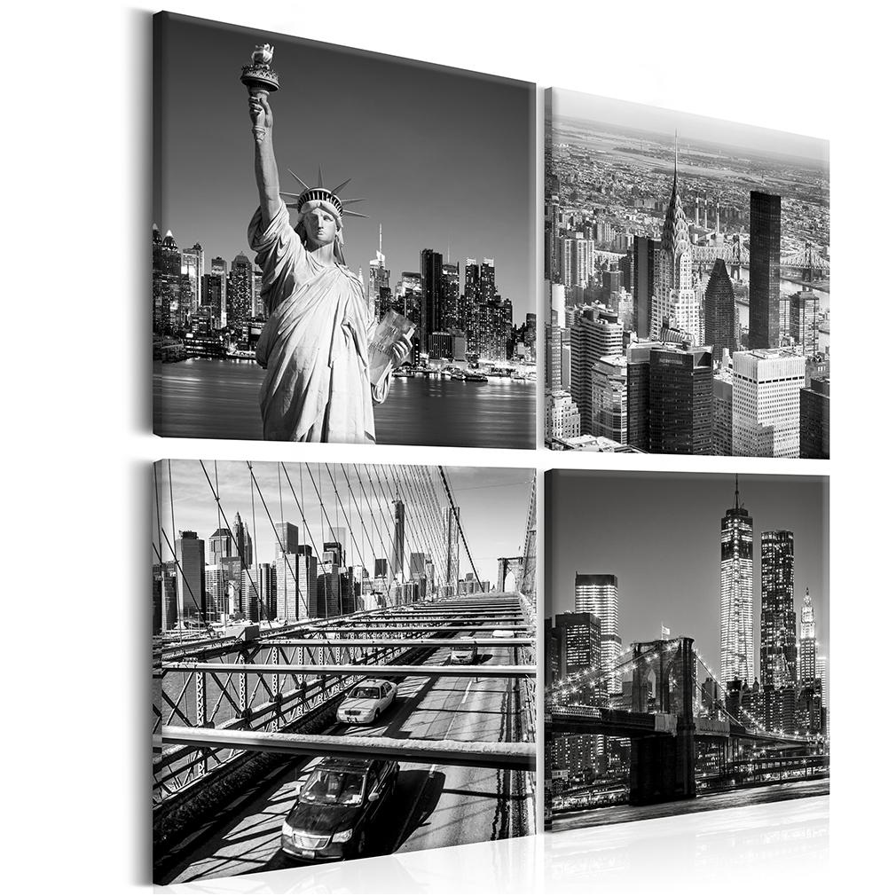 leinwand bilder new york panorama london rome paris eiffelturm wandbilder xxl ebay. Black Bedroom Furniture Sets. Home Design Ideas