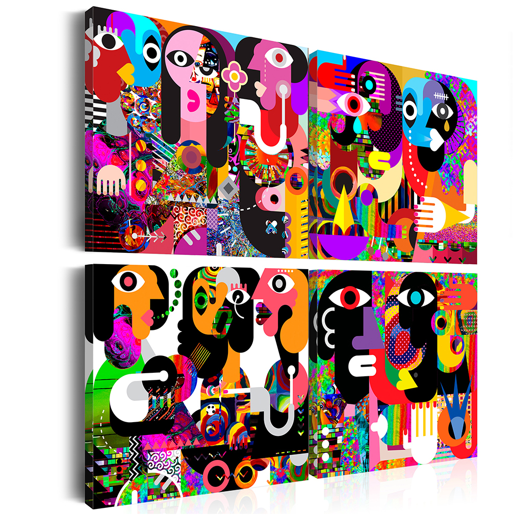 Leinwand bilder abstrakt tiere braun sonne wandbilder xxl for Wandbilder wohnzimmer abstrakt