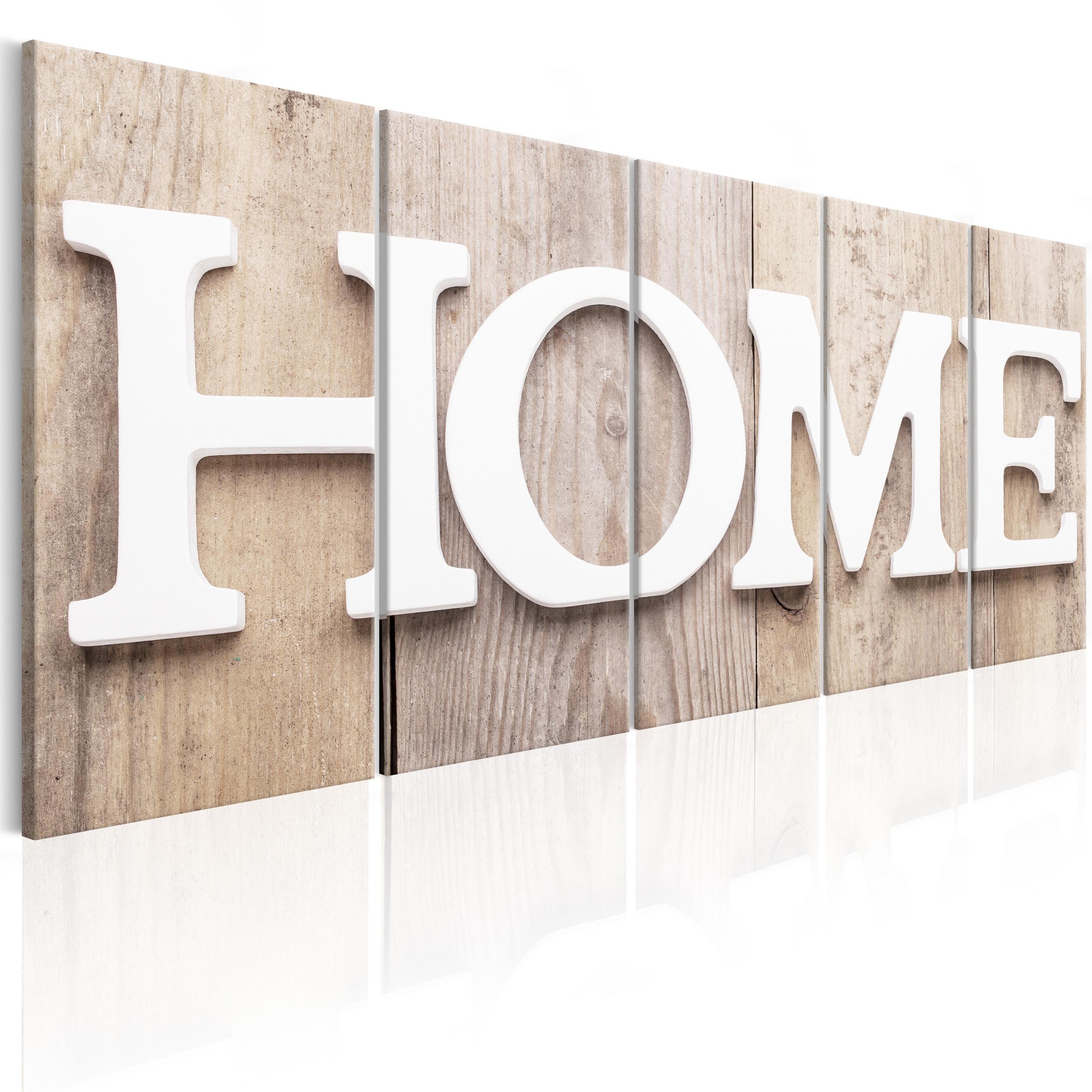 bilder leinwand bild home hause retro vintage holz wandbilder kunstdruck ebay. Black Bedroom Furniture Sets. Home Design Ideas