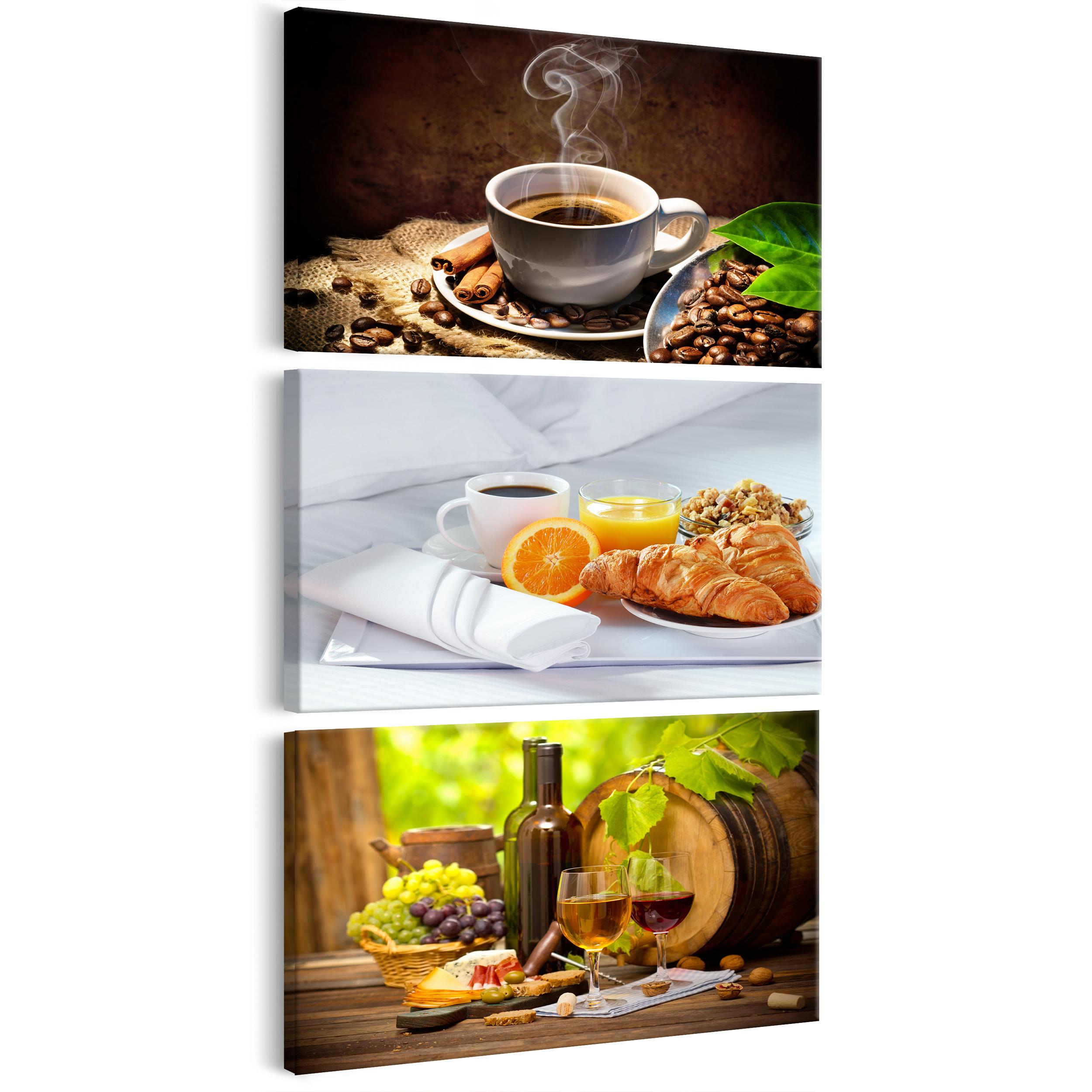 leinwand bilder k che wandbilder xxl kochen kaffe caffe. Black Bedroom Furniture Sets. Home Design Ideas