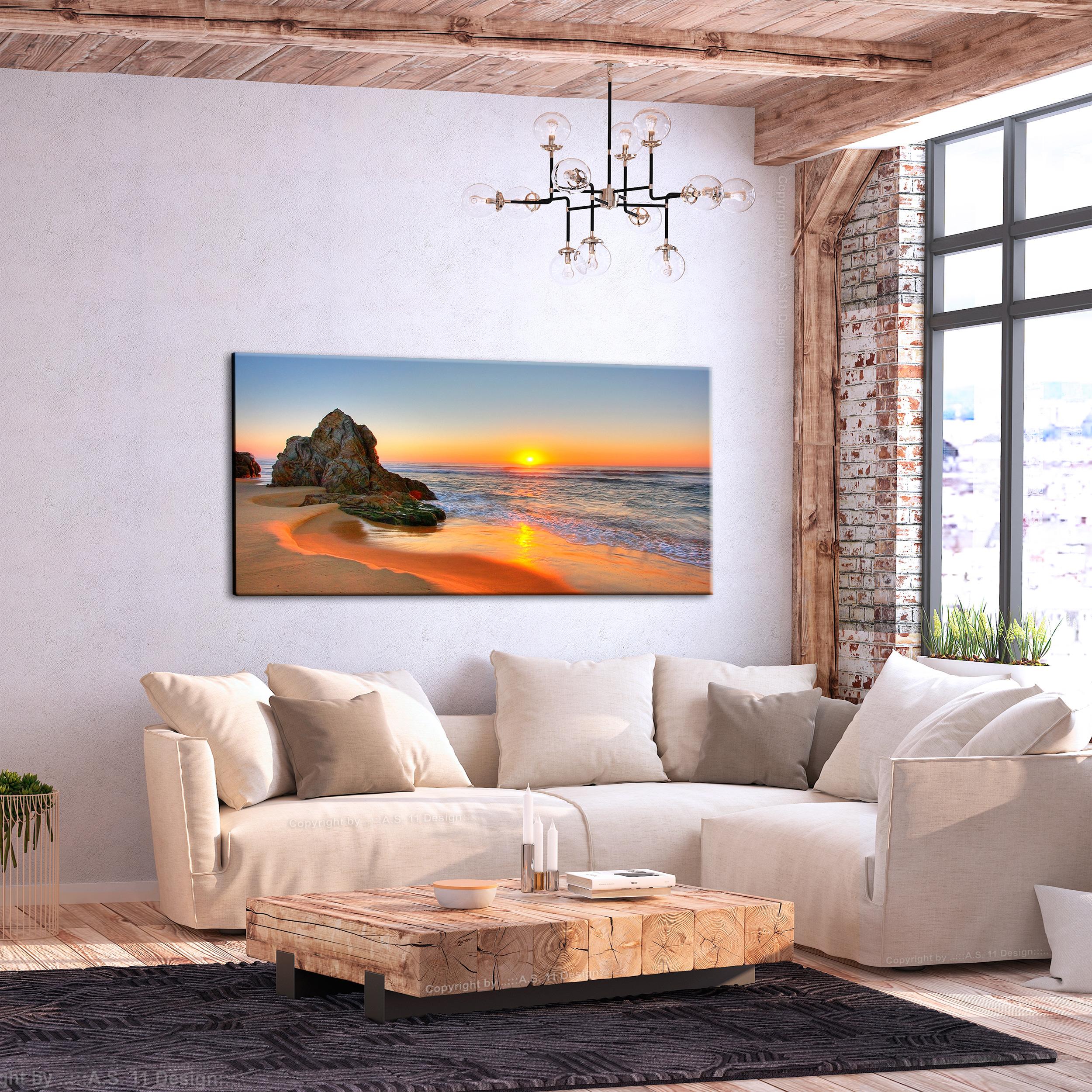leinwand bilder strand meer sonne landschaft wandbilder xxl wohnzimmer ebay. Black Bedroom Furniture Sets. Home Design Ideas