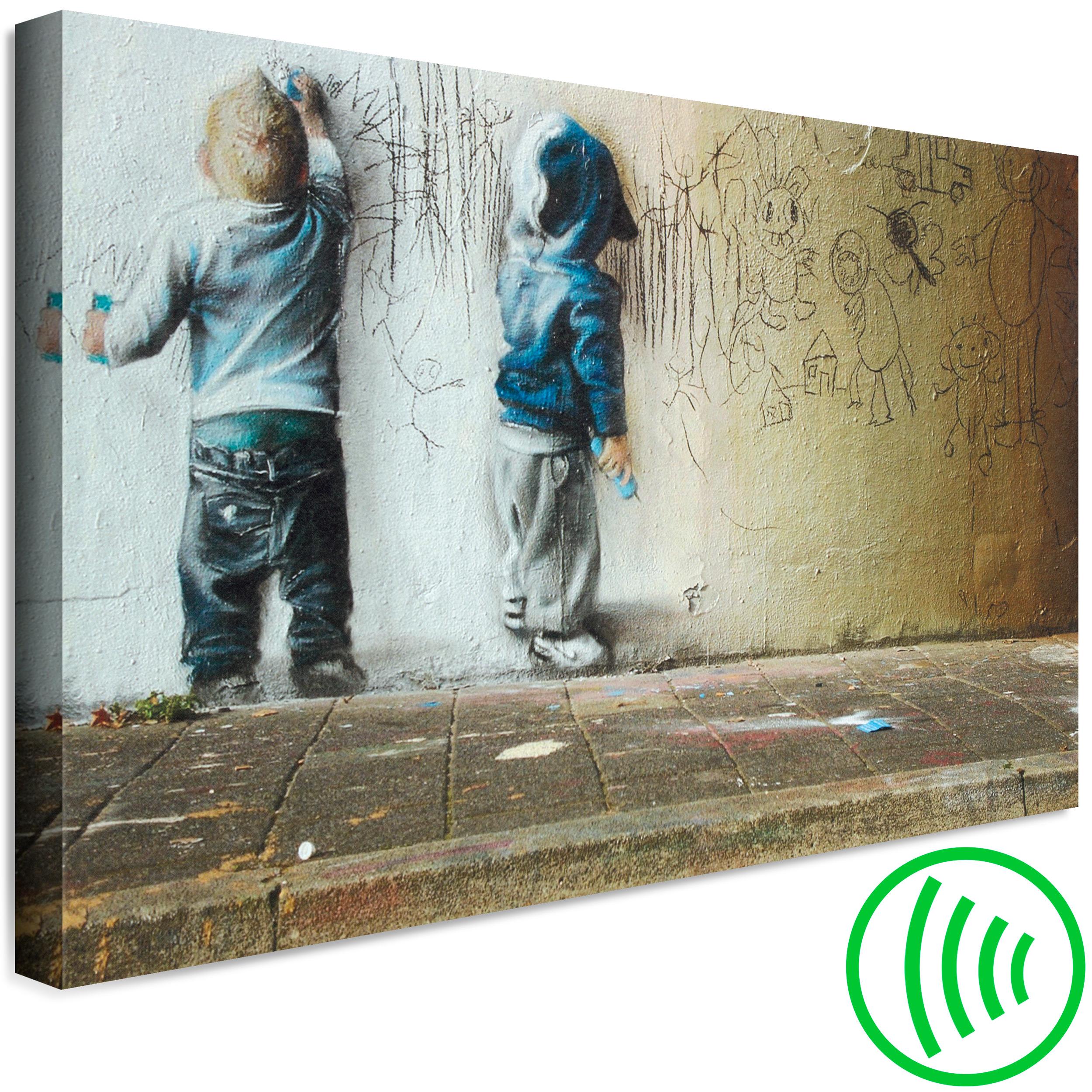 Leinwand bilder banksy abstrakt kinder wandbilder xxl wohnzimmer kunstdruck 511 ebay - Kinder wandbilder ...